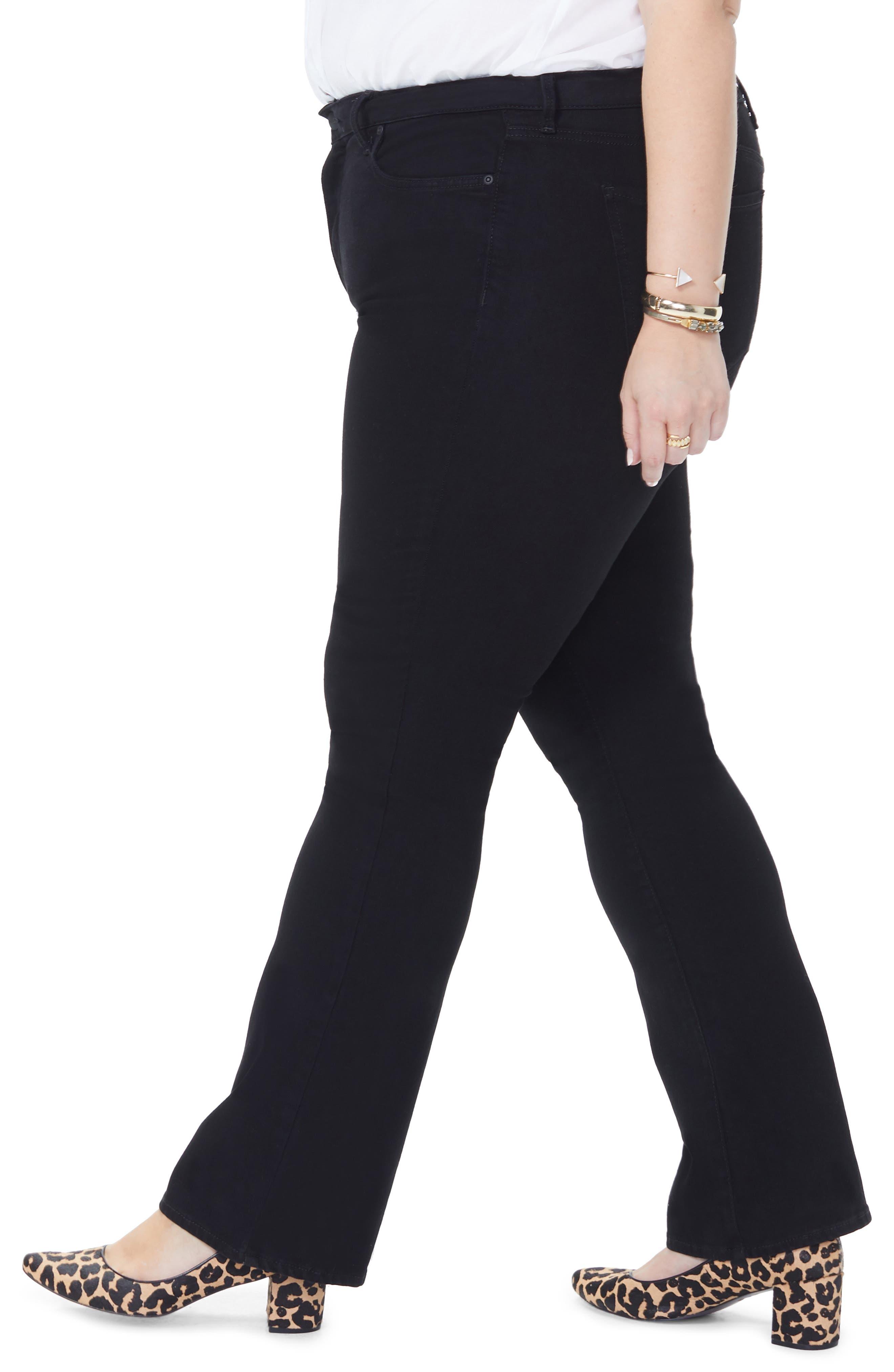 NYDJ, Barbara High Rise Bootcut Jeans, Alternate thumbnail 5, color, BLACK