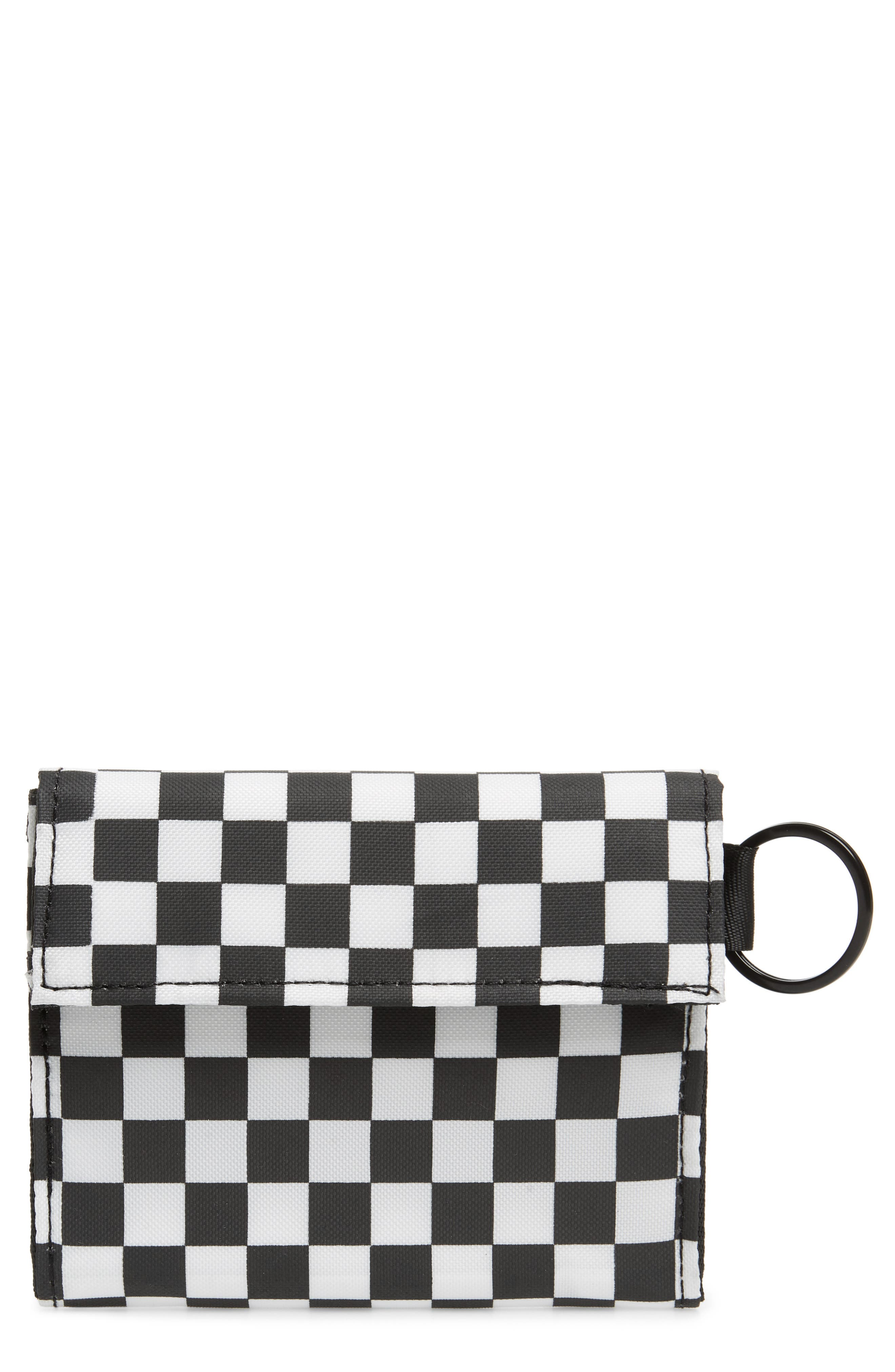THE RAIL Xander Wallet, Main, color, BLACK/ WHITE CHECKERBOARD