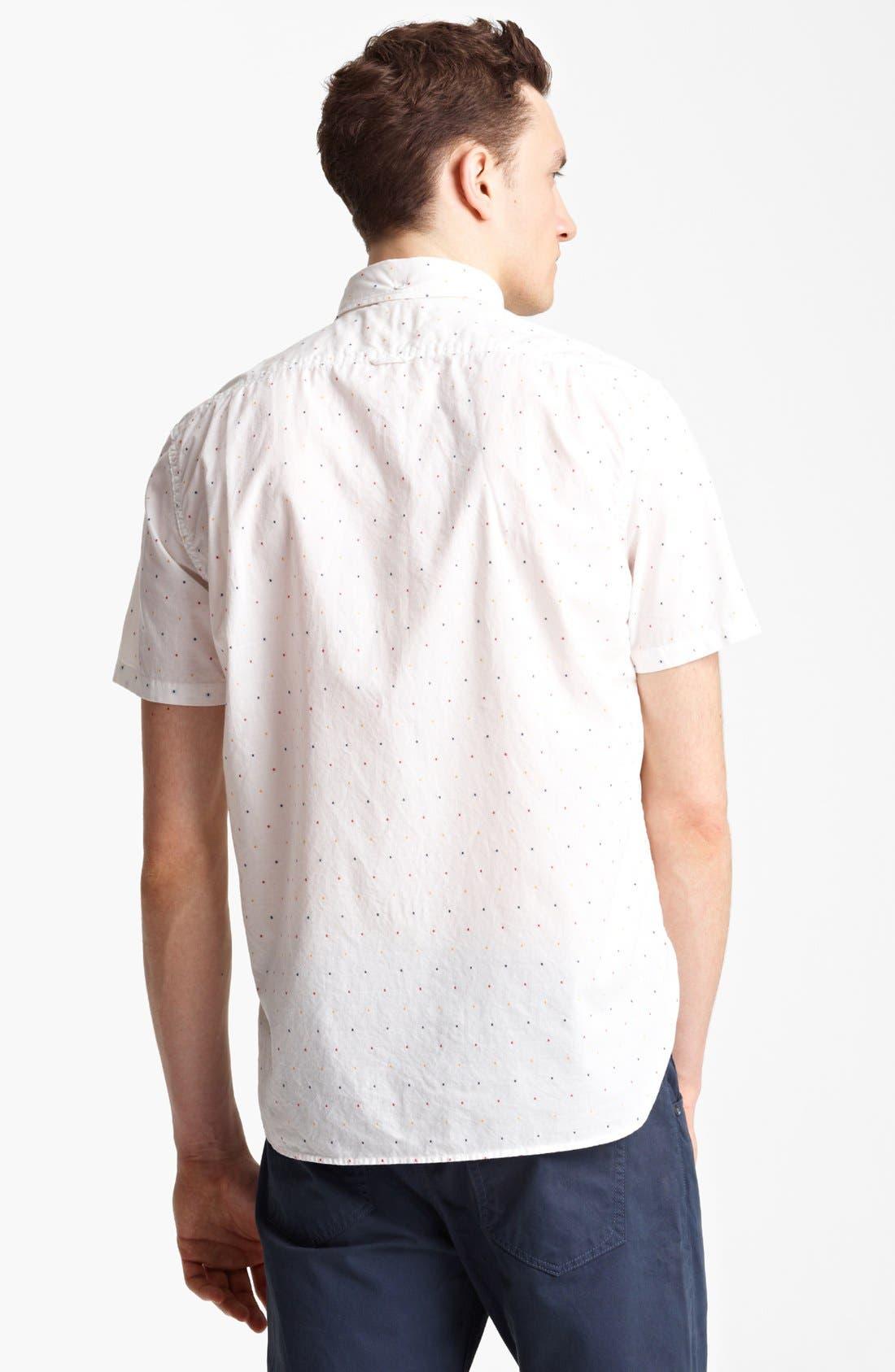 RAG & BONE, Dot Woven Shirt, Alternate thumbnail 2, color, 100