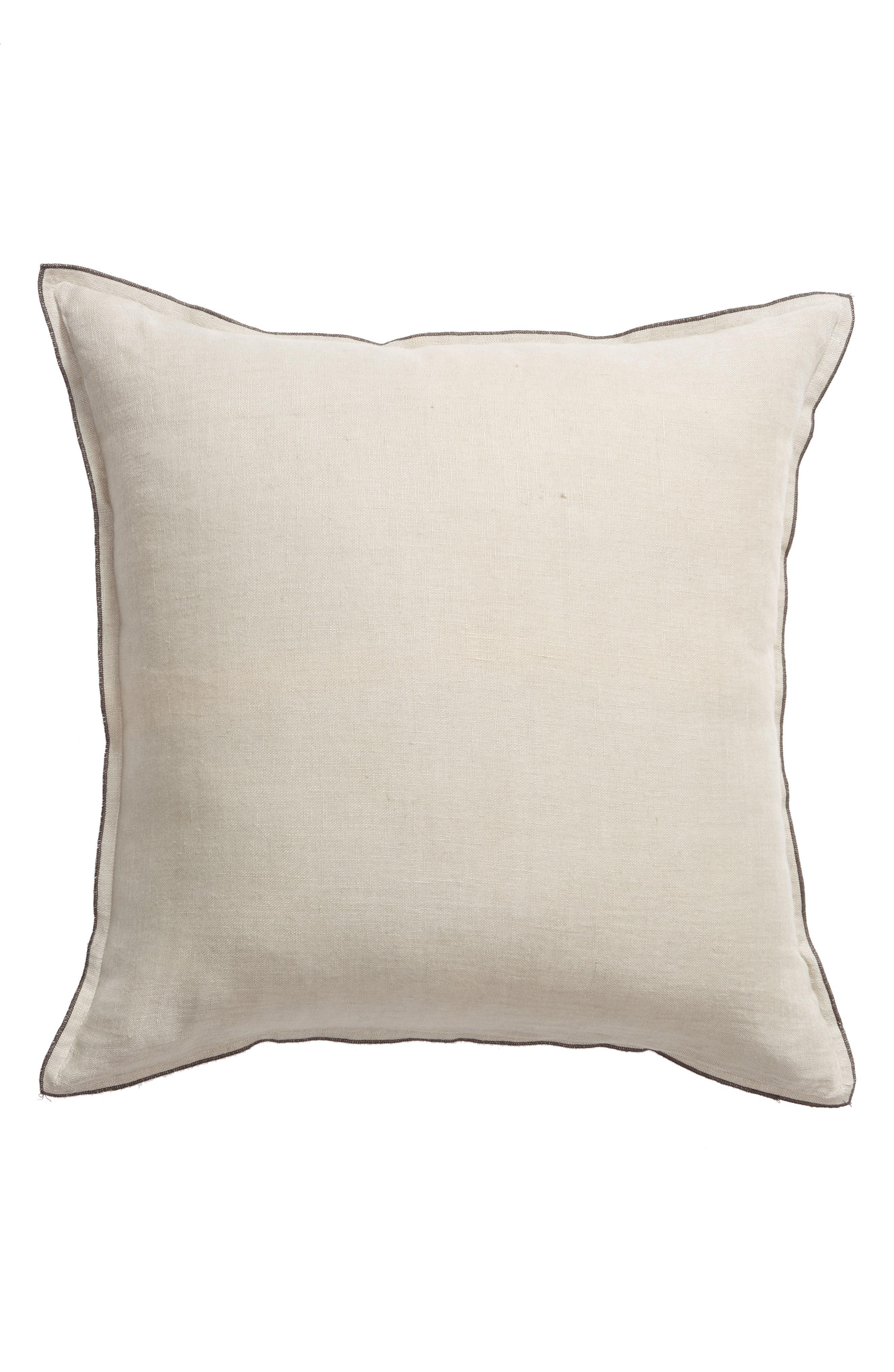 TREASURE & BOND Linen Accent Pillow, Main, color, GREY OWL