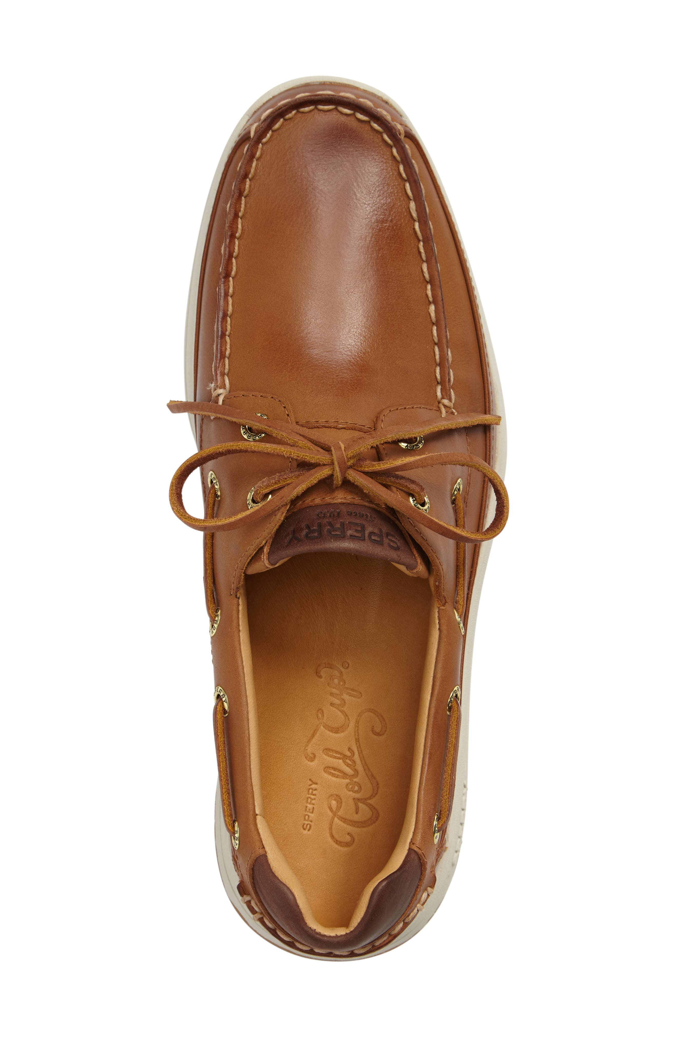 SPERRY, Gold Cup Ultralite Boat Shoe, Alternate thumbnail 3, color, TAN