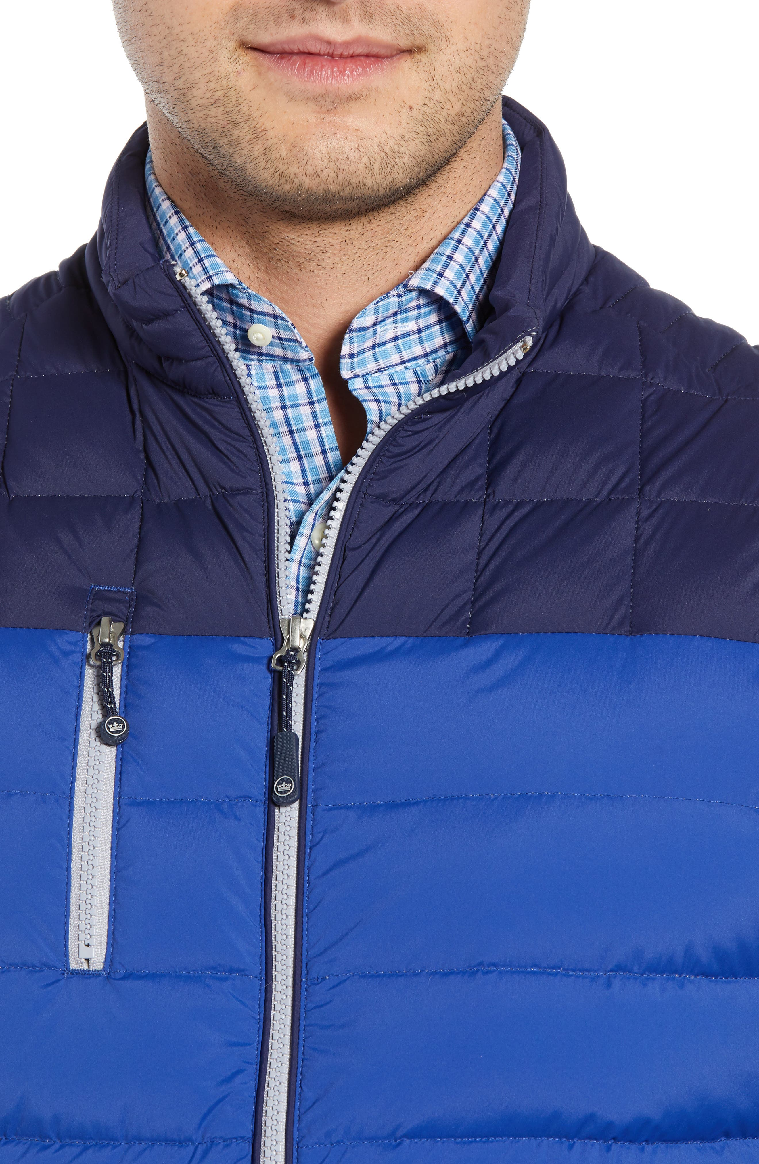 PETER MILLAR, Sail Classic Fit Puffer Vest, Alternate thumbnail 5, color, SAIL