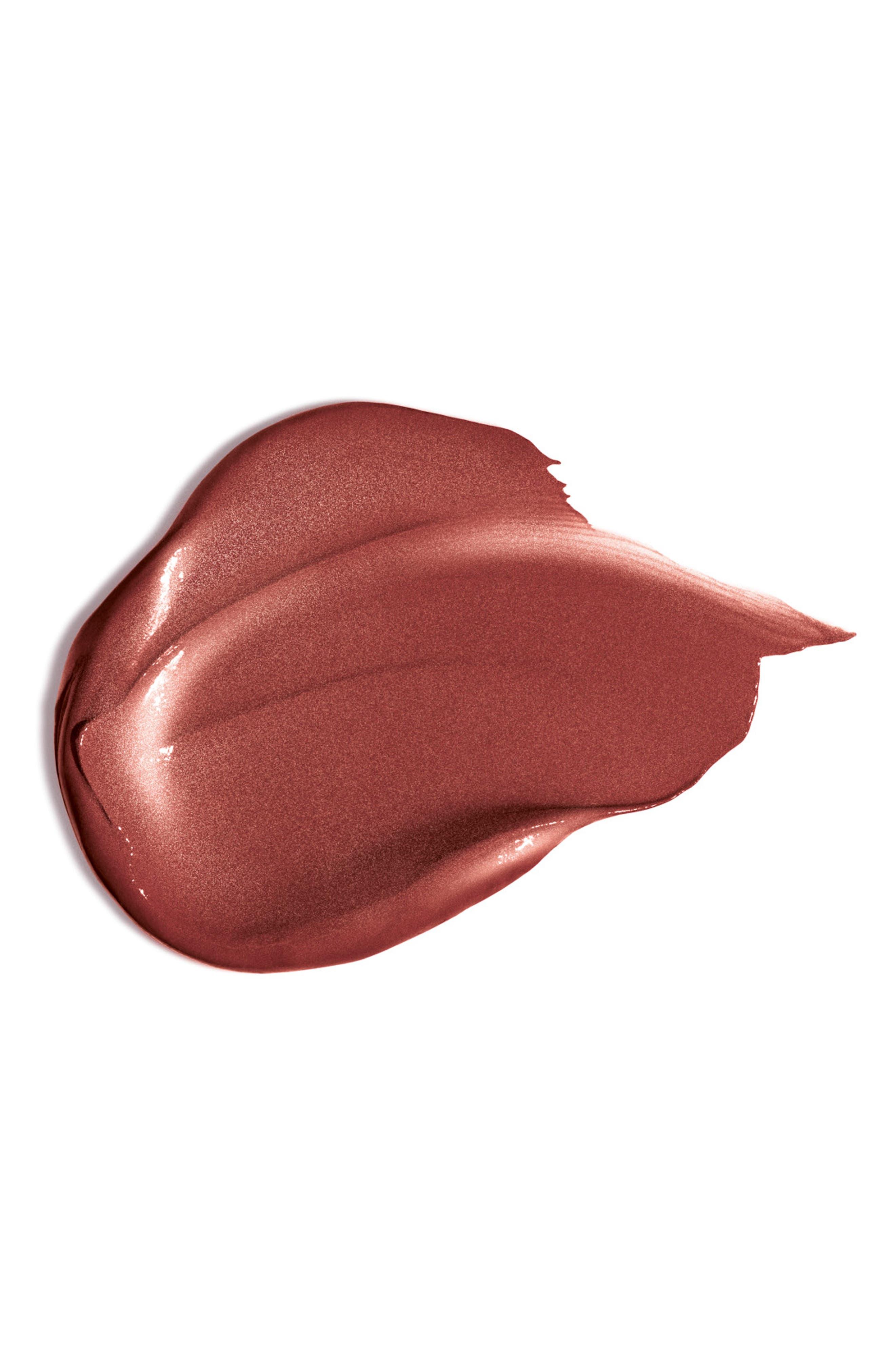 CLARINS, Joli Rouge Brilliant Sheer Lipstick, Alternate thumbnail 2, color, 757 NUDE BRICK