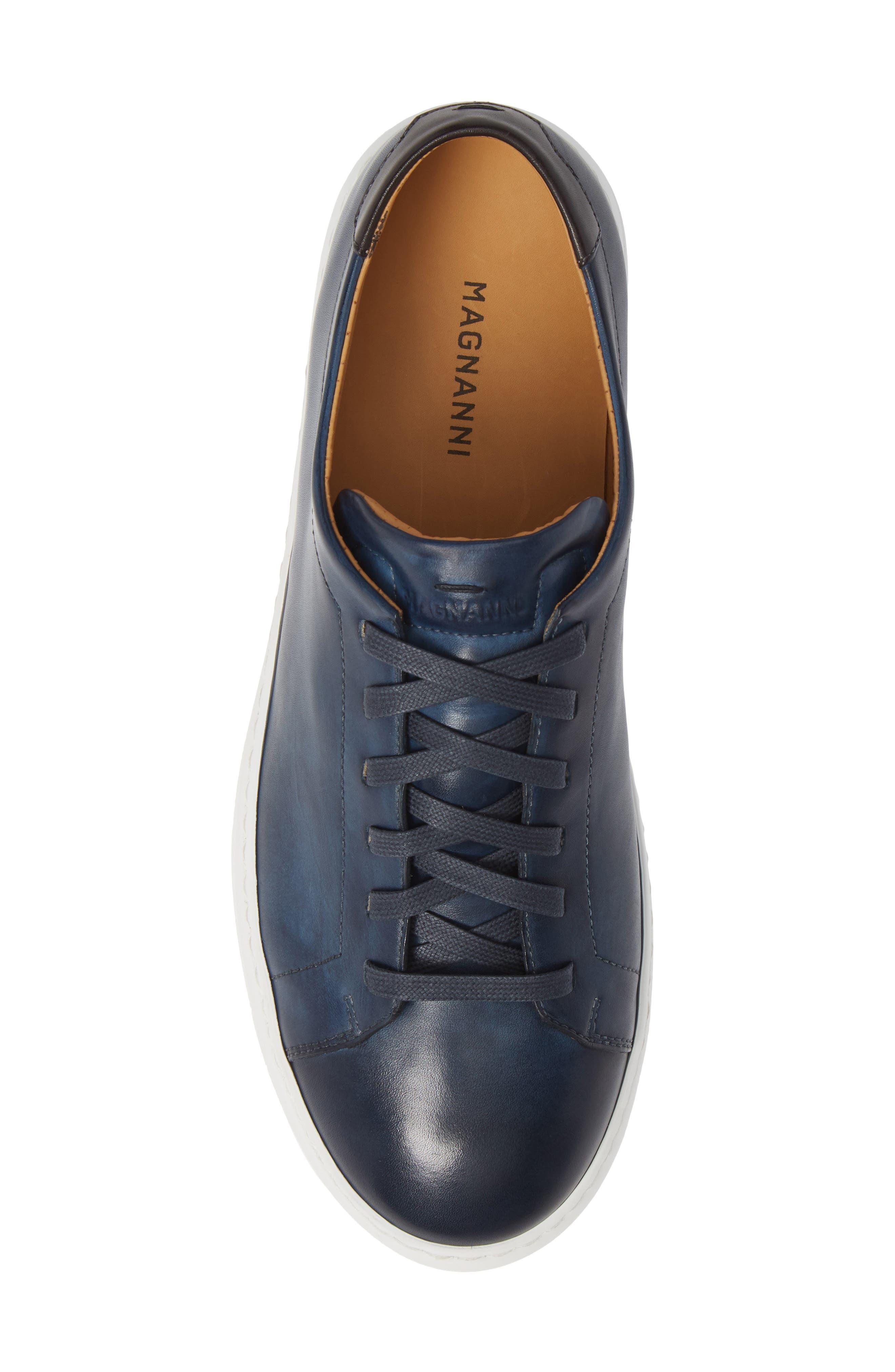 MAGNANNI, Bartolo Sneaker, Alternate thumbnail 5, color, NAVY LEATHER