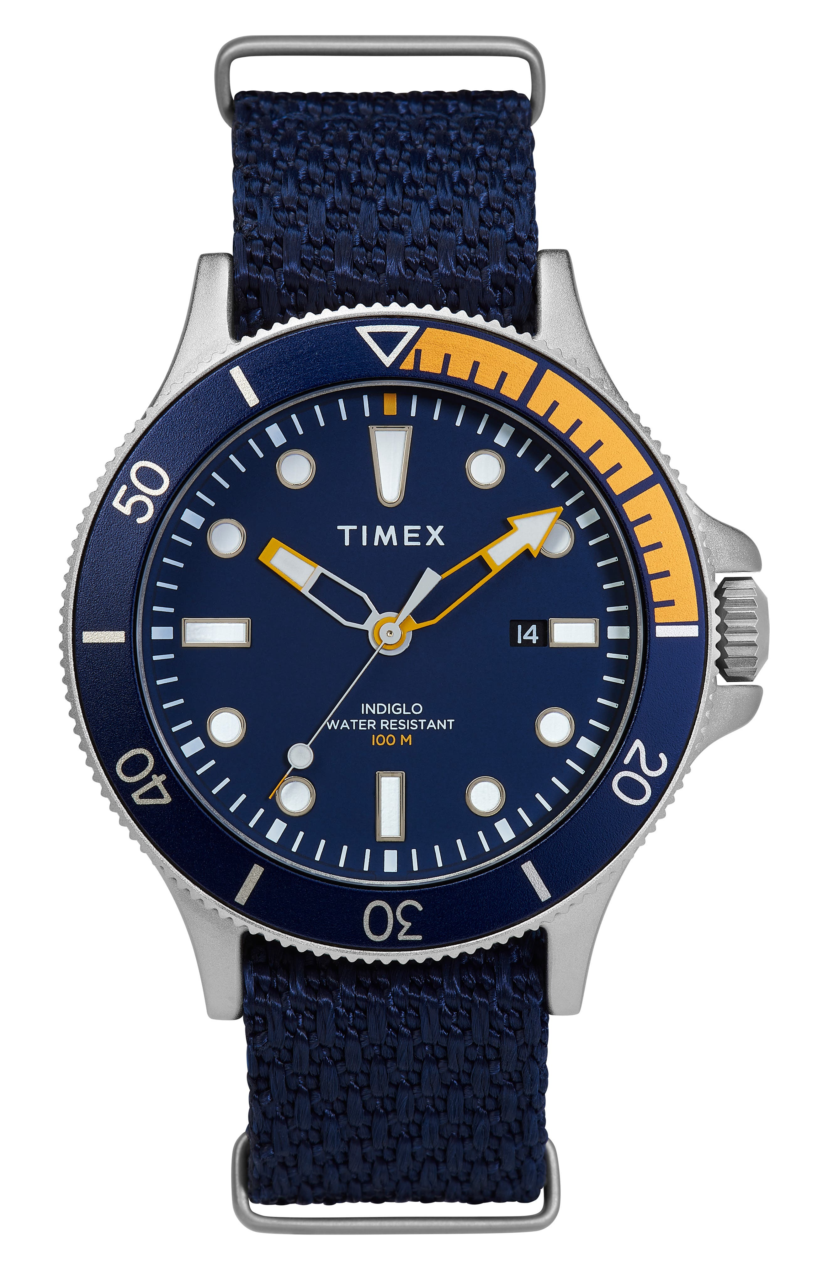 Timex Allied Woven Strap Watch 43Mm