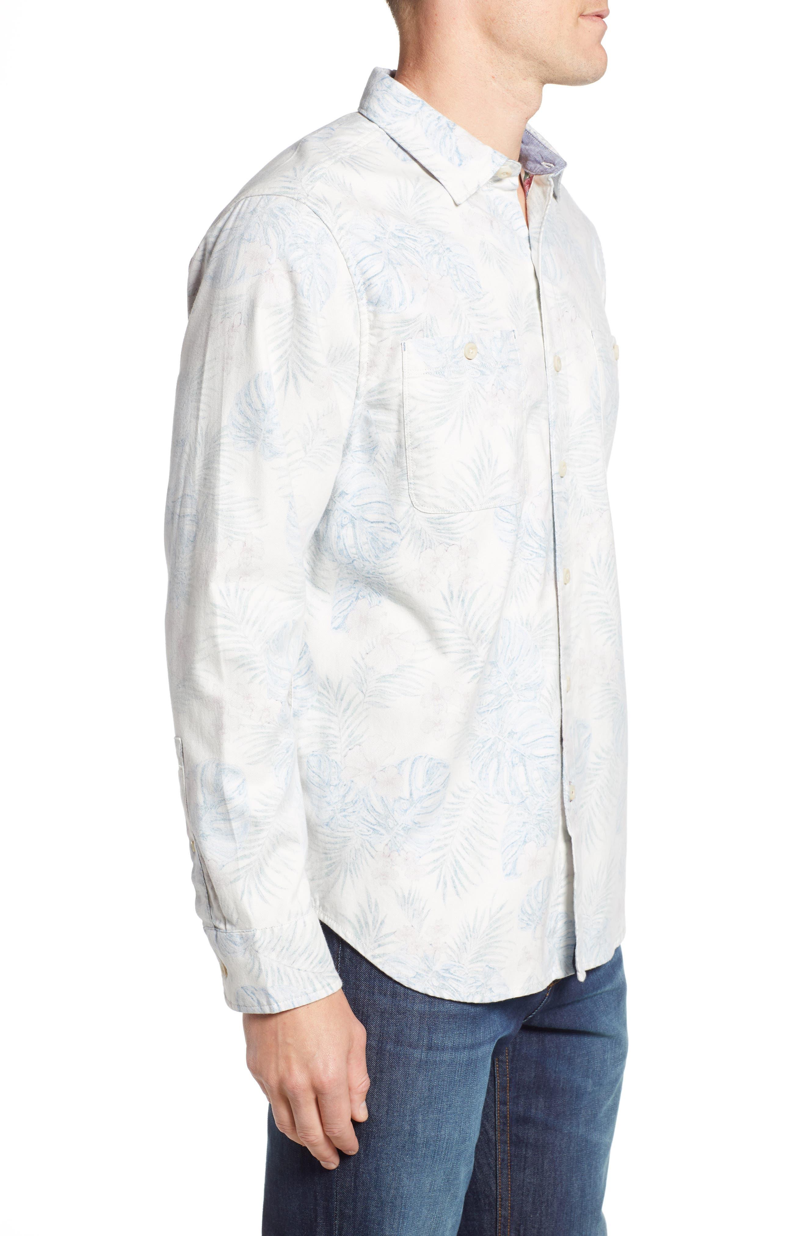 TOMMY BAHAMA, Beach Palms Long Sleeve Flannel Sport Shirt, Alternate thumbnail 3, color, 200