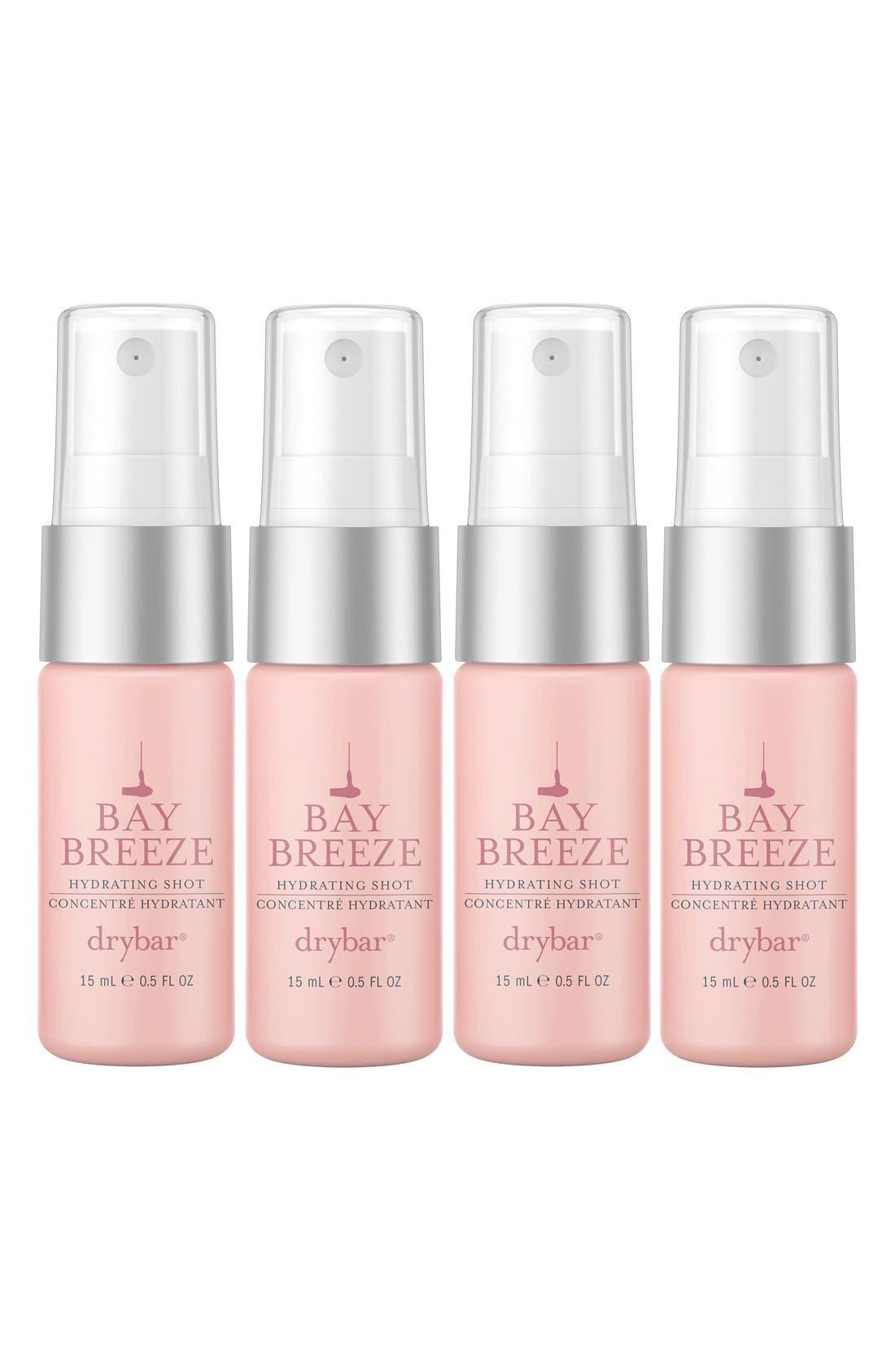 DRYBAR, Bay Breeze Set of 4 Hydrating Shots, Main thumbnail 1, color, NO COLOR