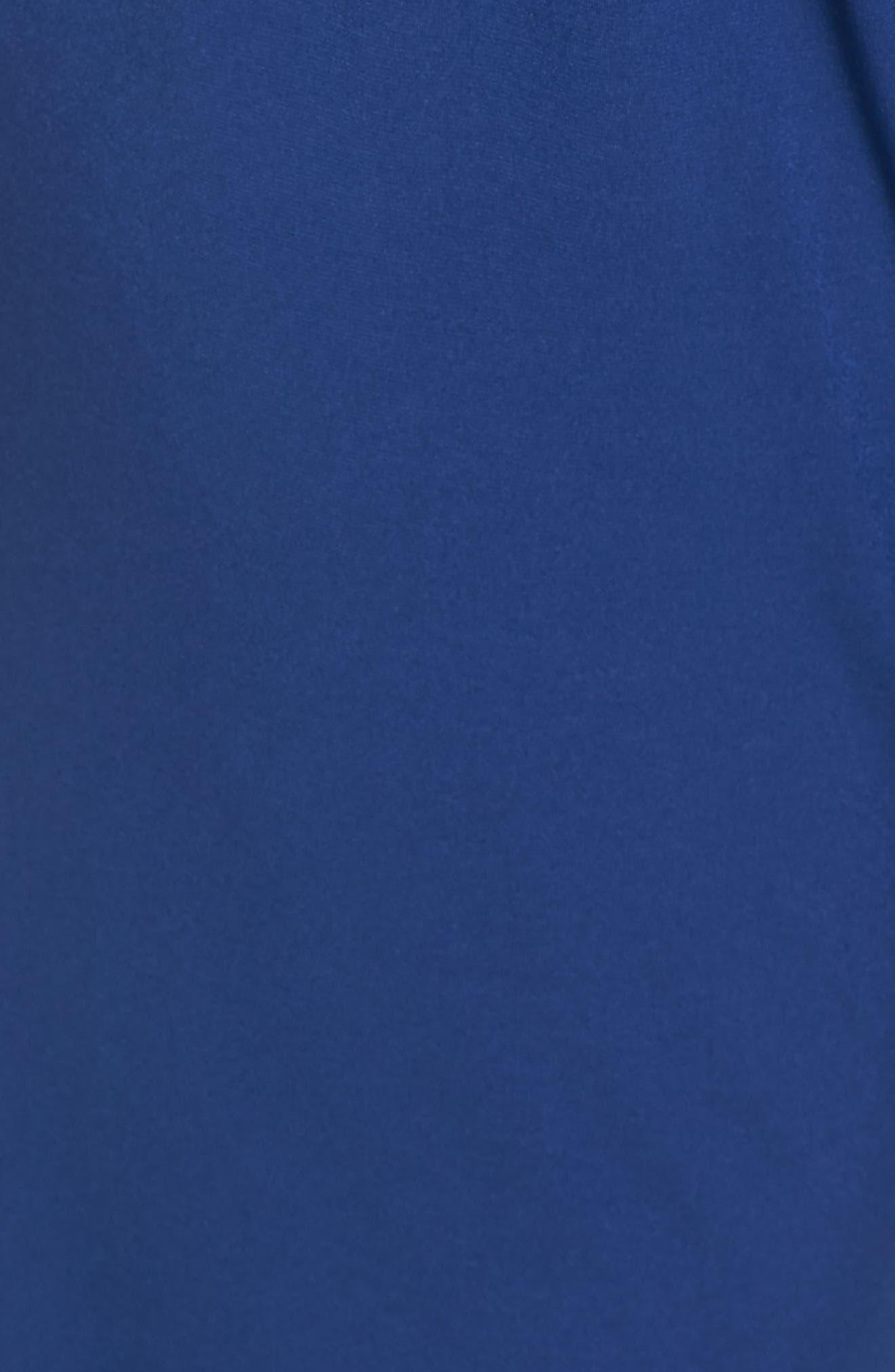 VINCE CAMUTO, Faux Wrap Wide Leg Jumpsuit, Alternate thumbnail 6, color, BLUE
