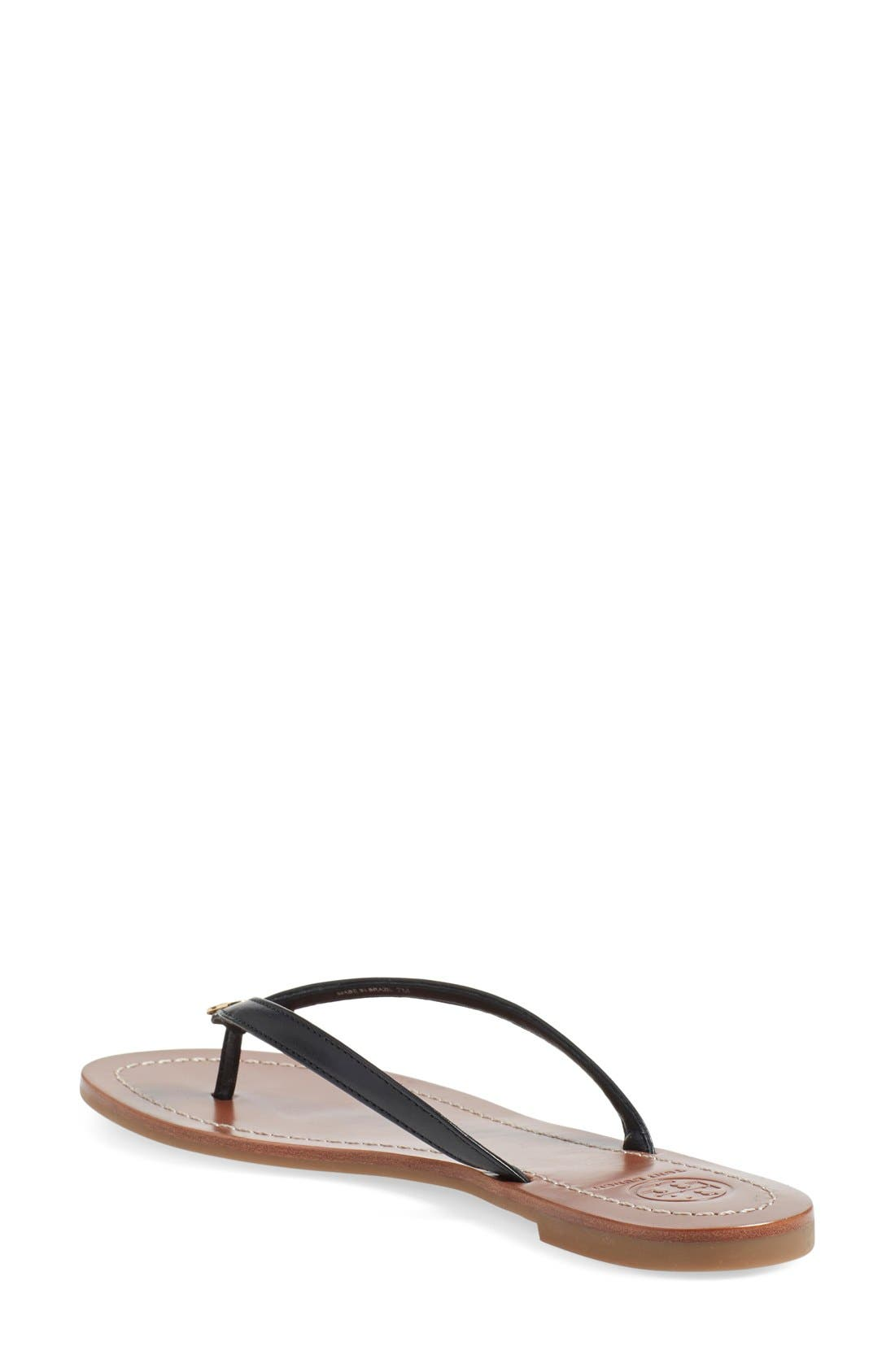 TORY BURCH, 'Terra' Flip Flop, Alternate thumbnail 4, color, 001