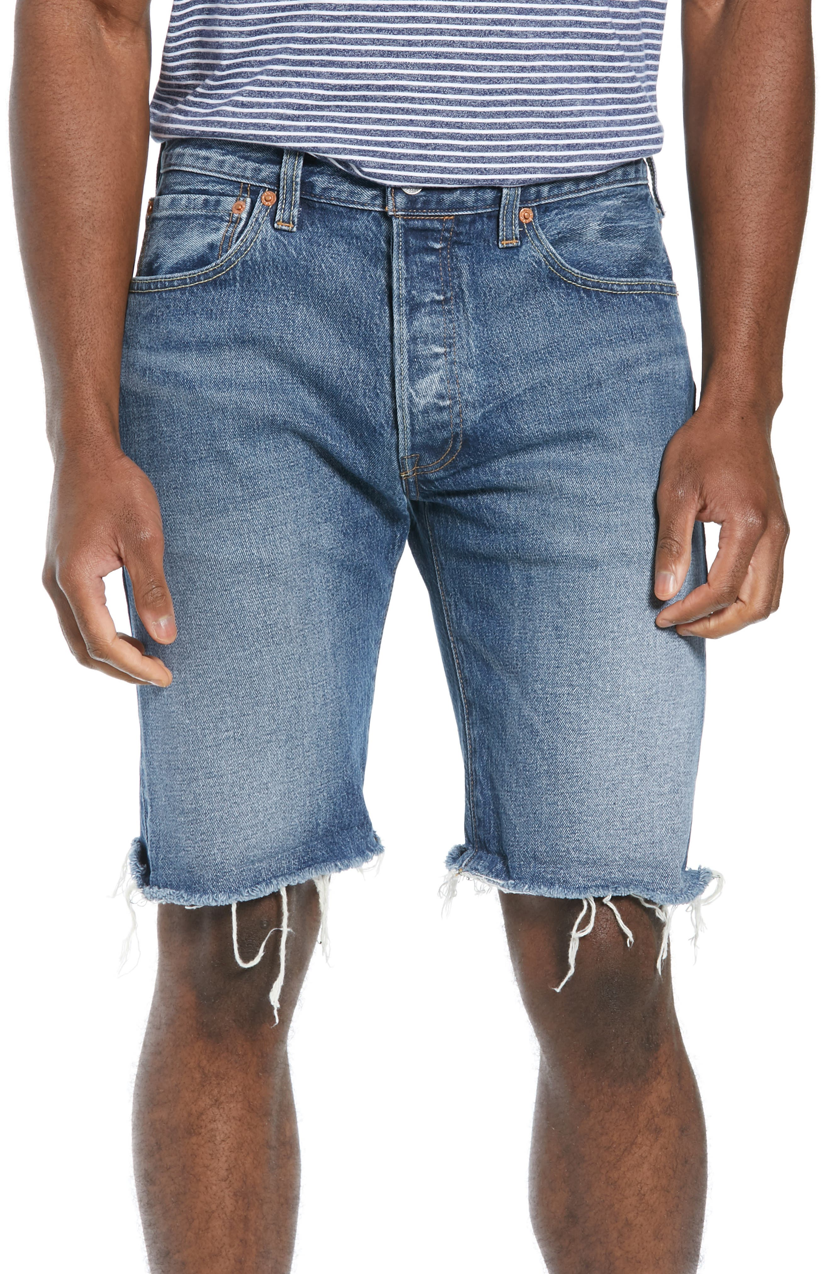 LEVI'S<SUP>®</SUP> 501<sup>®</sup> CT Denim Shorts, Main, color, RED HOTS