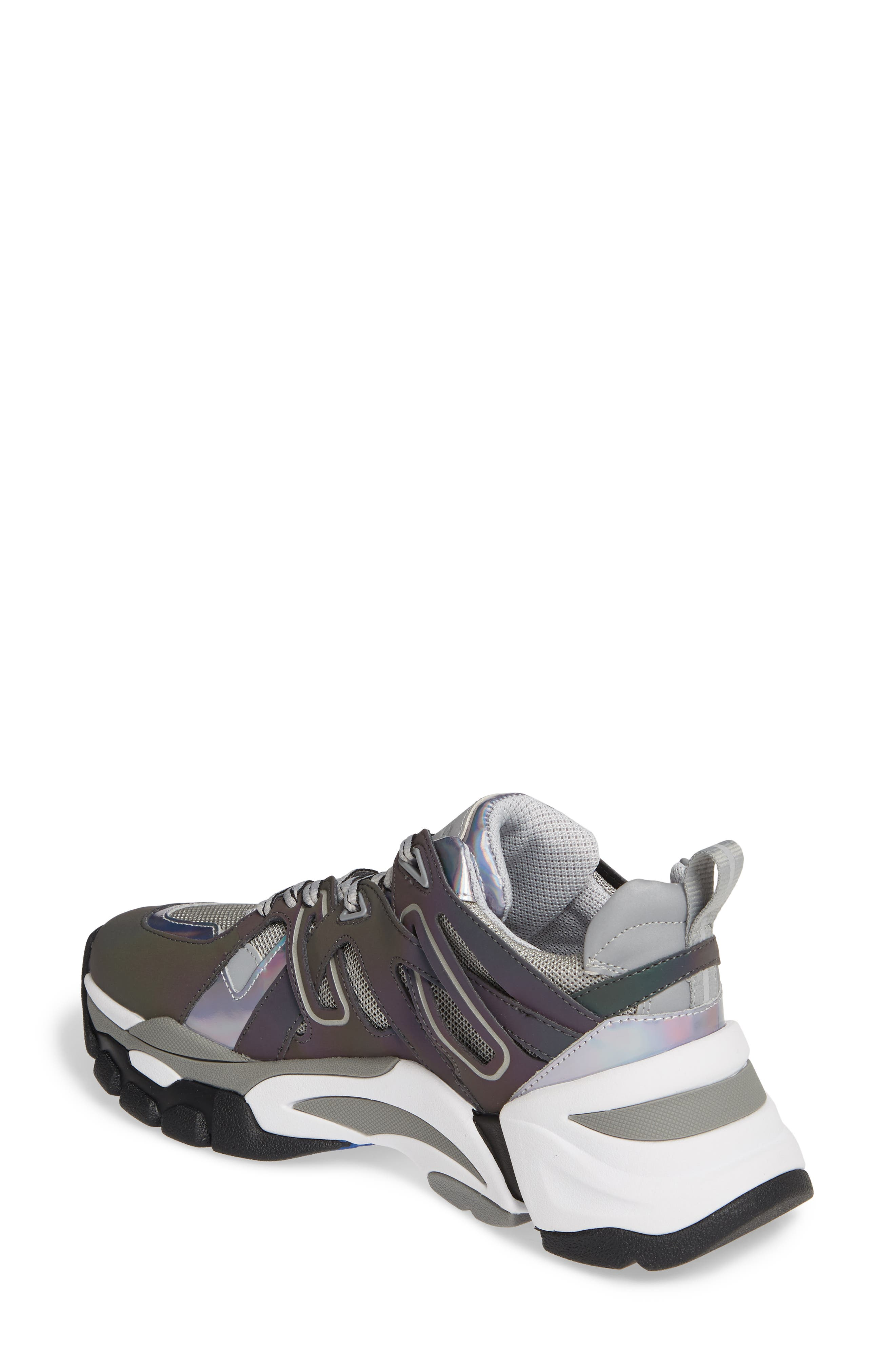 ASH, Flash Sneaker, Alternate thumbnail 2, color, GREY/ STROBE RAINBOW