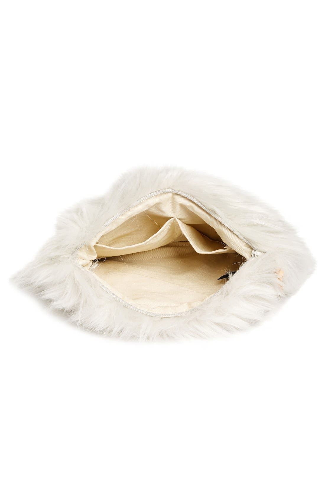 NORDSTROM AT HOME, Cuddle Up Faux Fur Pouch, Alternate thumbnail 6, color, 030