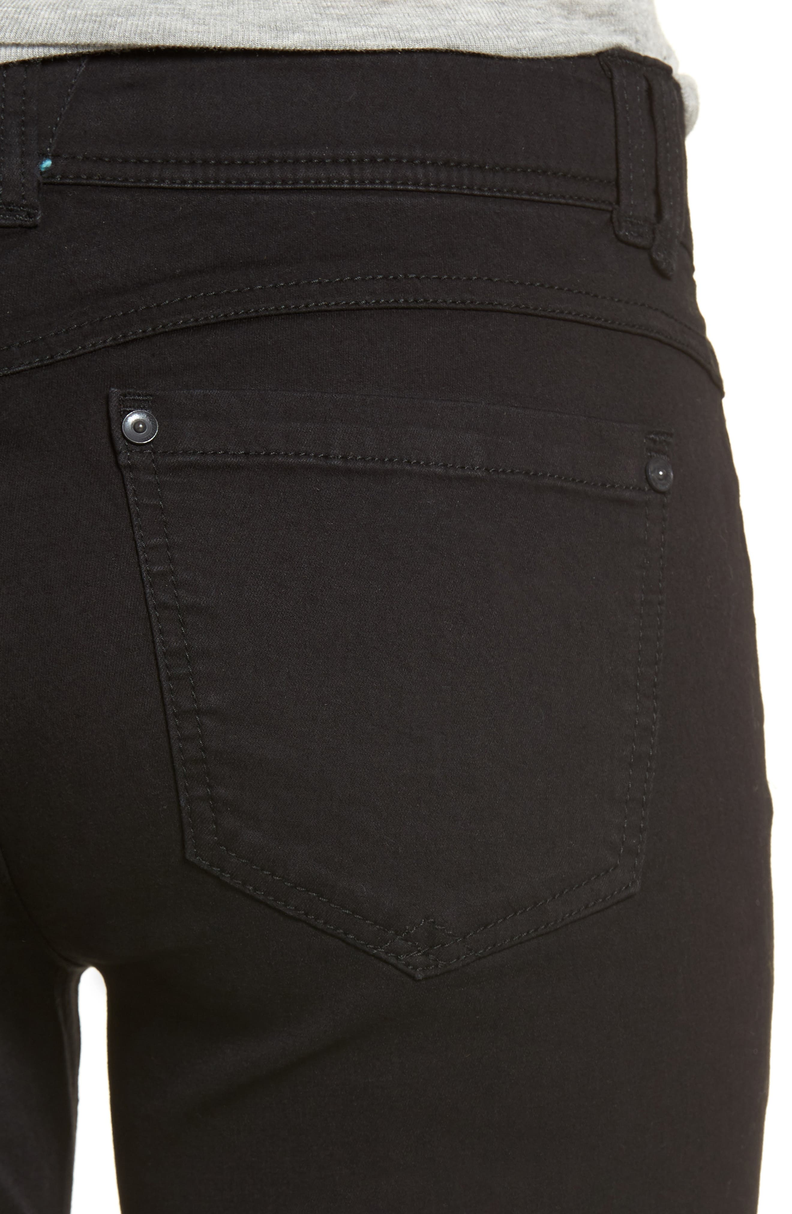 WIT & WISDOM, Ab-solution Itty Bitty Bootcut Jeans, Alternate thumbnail 5, color, BLACK