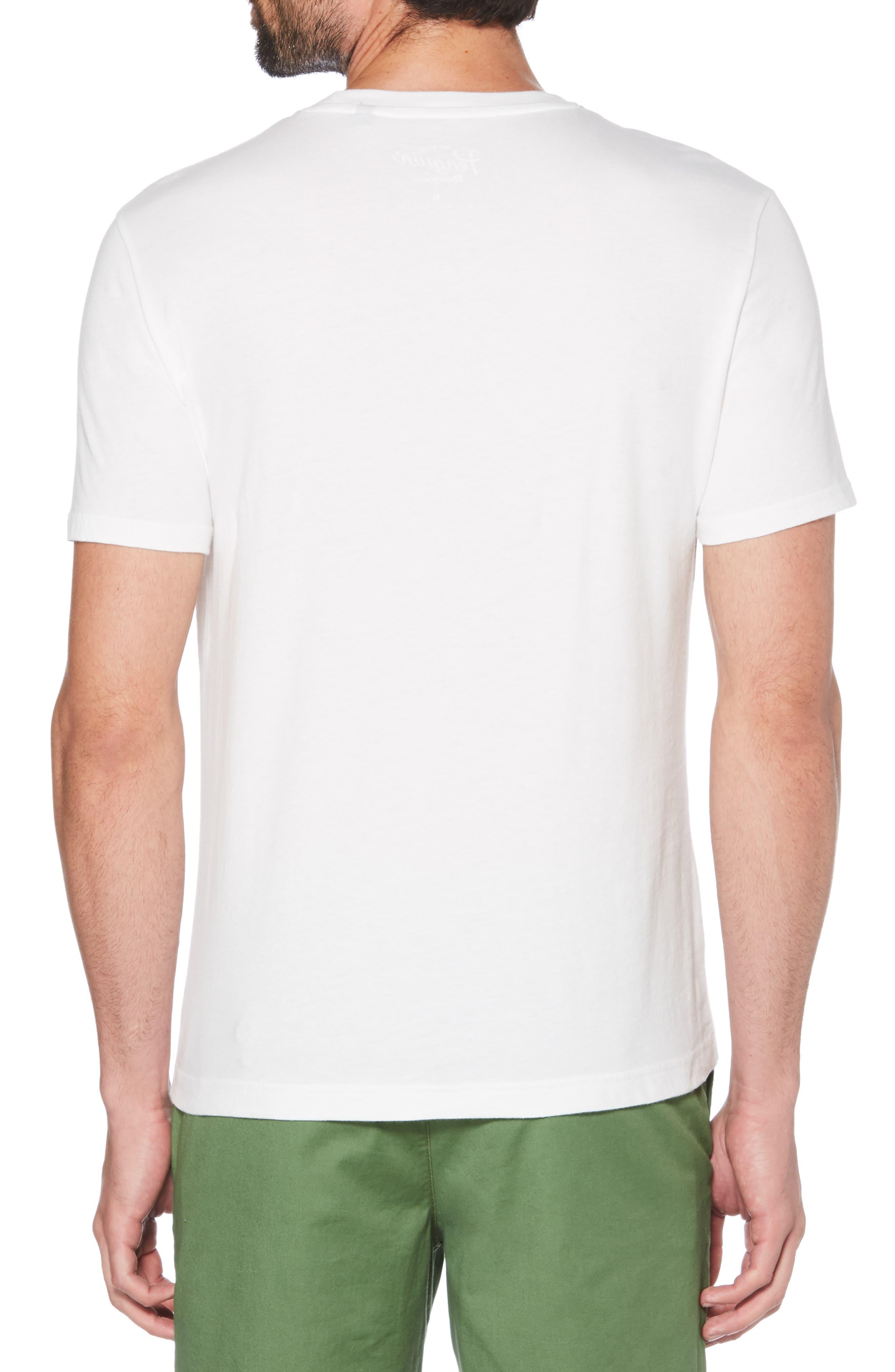 ORIGINAL PENGUIN, You Crack Me Up T-Shirt, Alternate thumbnail 2, color, BRIGHT WHITE