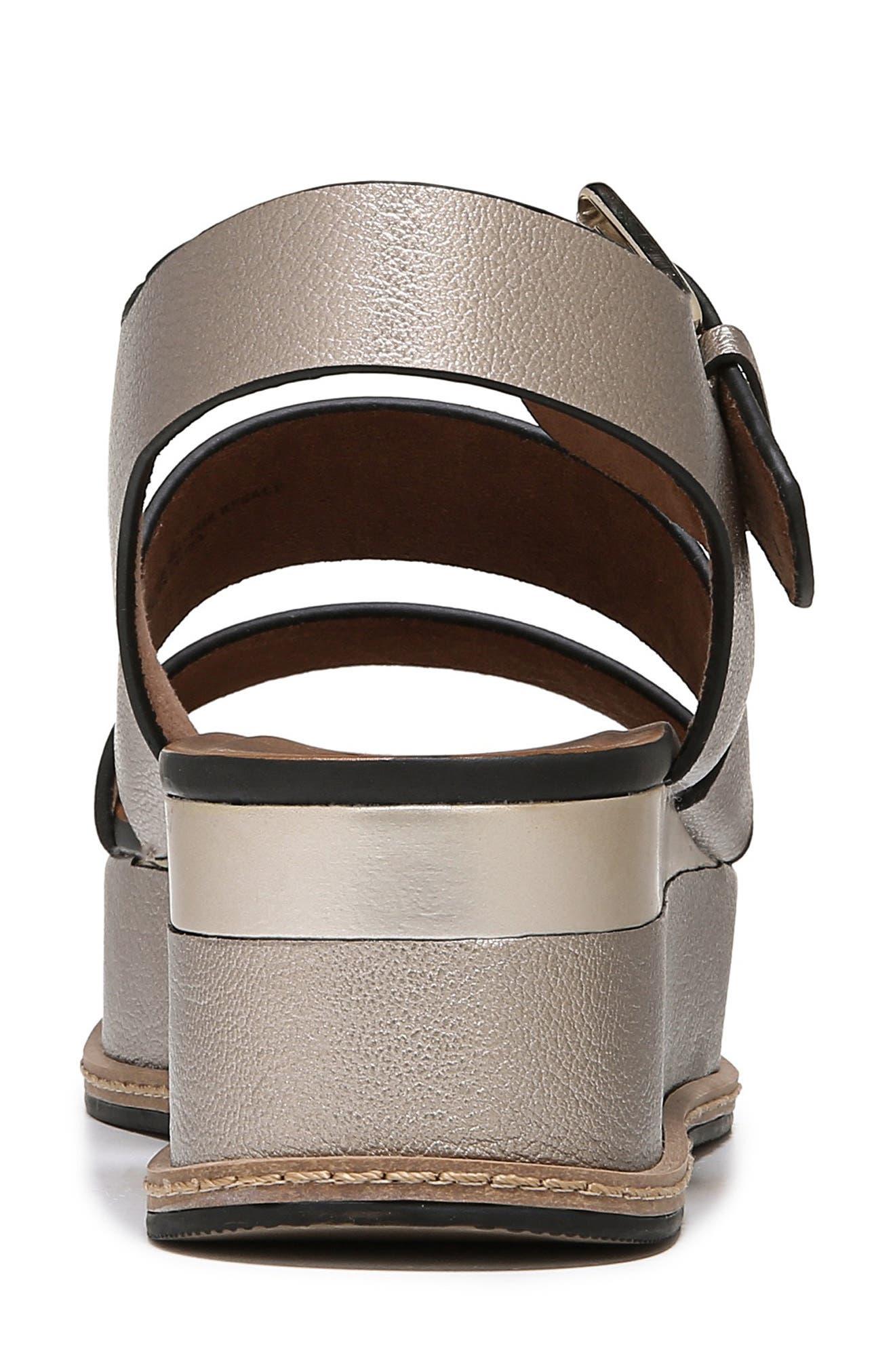 NATURALIZER, Billie Platform Sandal, Alternate thumbnail 7, color, LIGHT BRONZE METAL