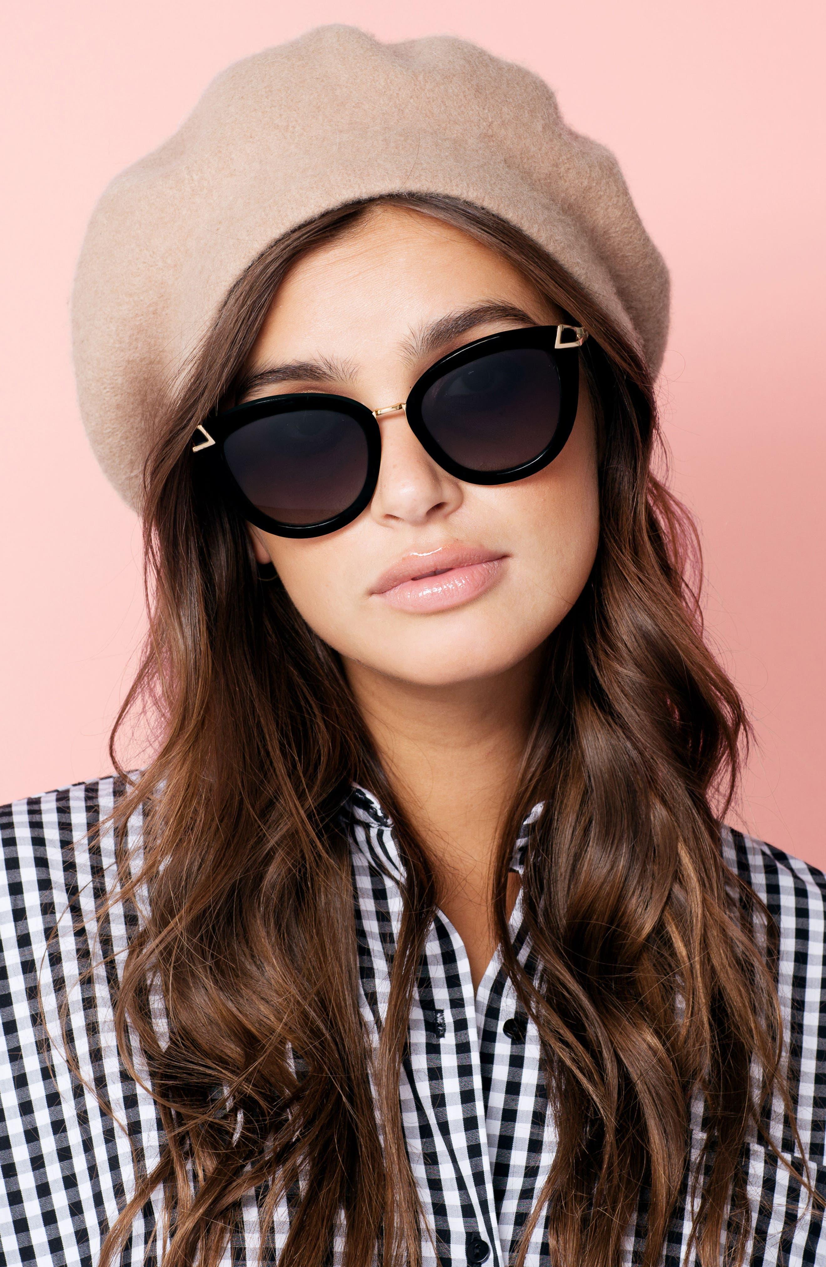 SONIX, Melrose 51mm Gradient Cat Eye Sunglasses, Main thumbnail 1, color, 001