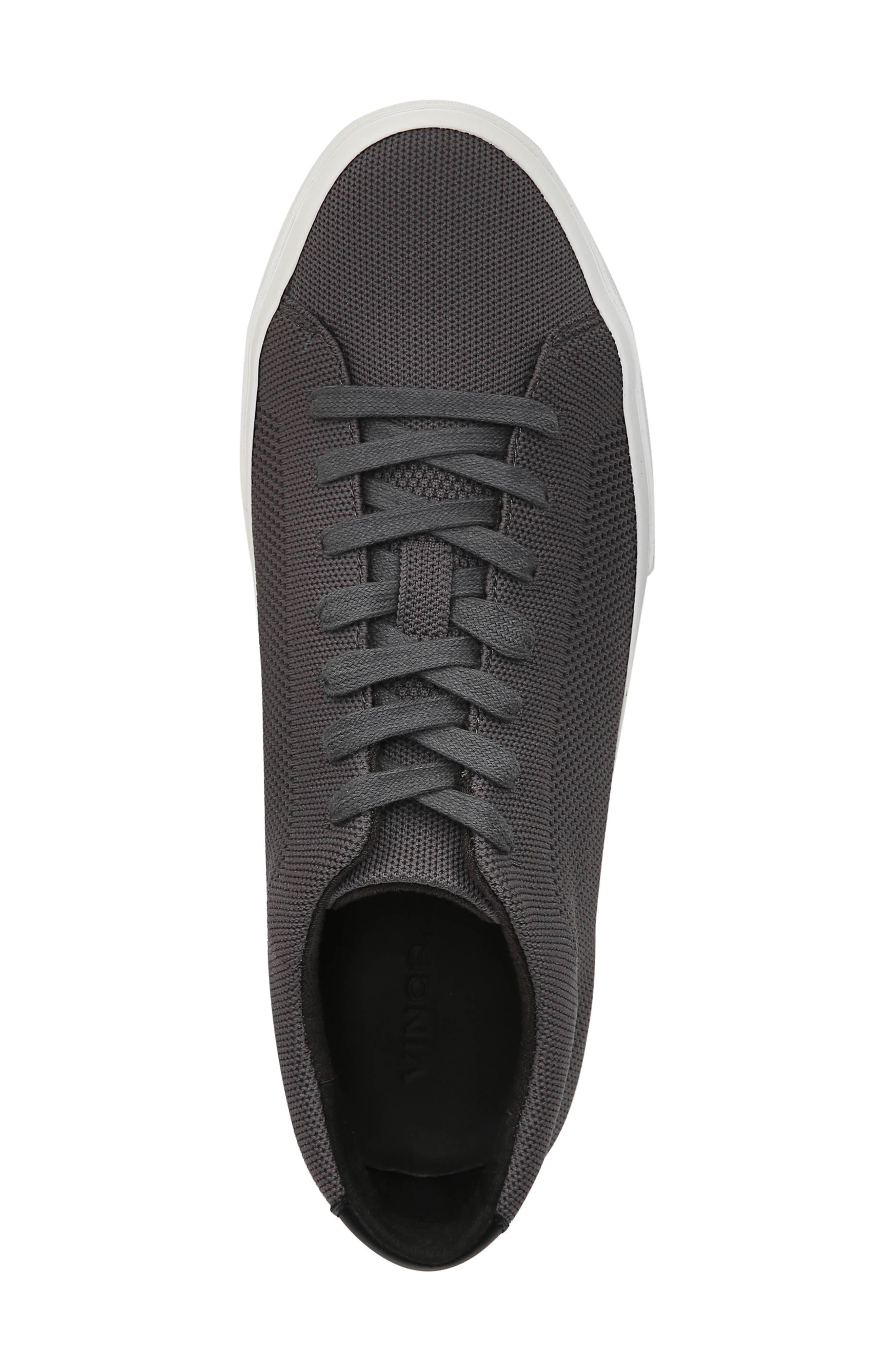 VINCE, Farrell Sneaker, Alternate thumbnail 5, color, GRAPHITE/ BLACK