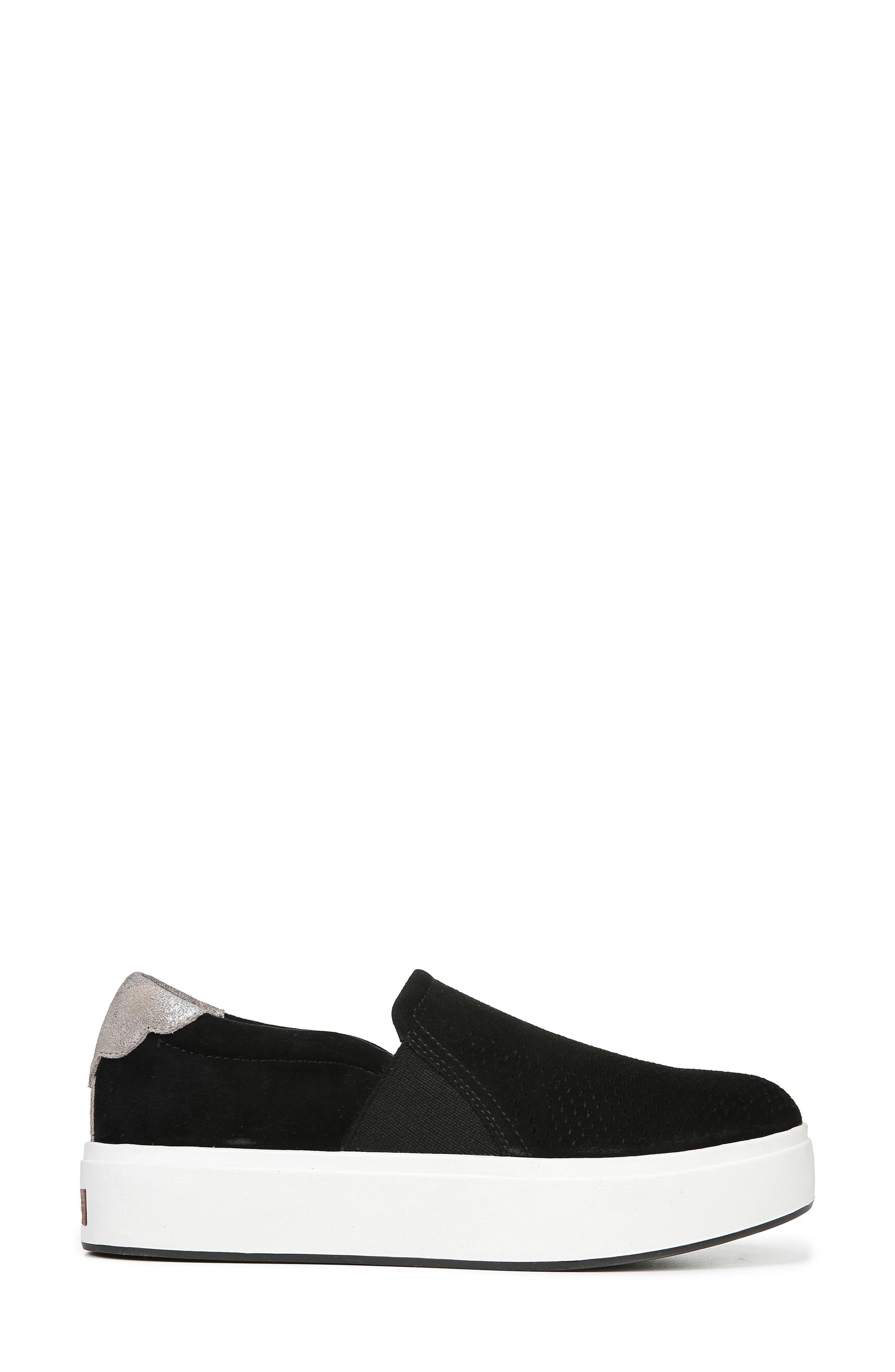 DR. SCHOLL'S, Abbot Lux Sneaker, Alternate thumbnail 3, color, BLACK SUEDE