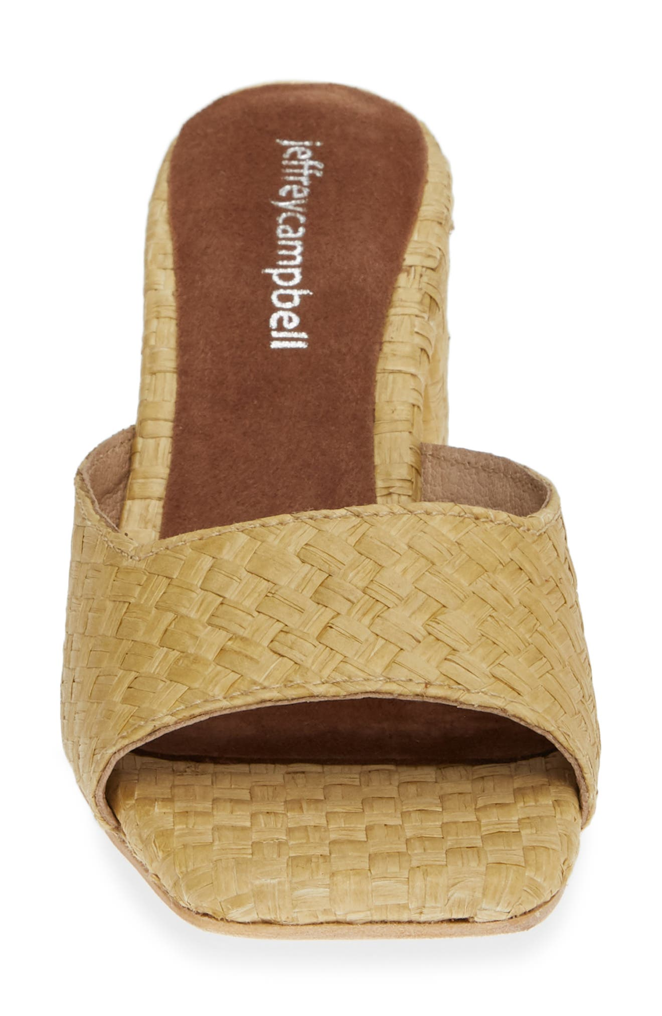 JEFFREY CAMPBELL, Mélange Raffia Slide Sandal, Alternate thumbnail 4, color, 200
