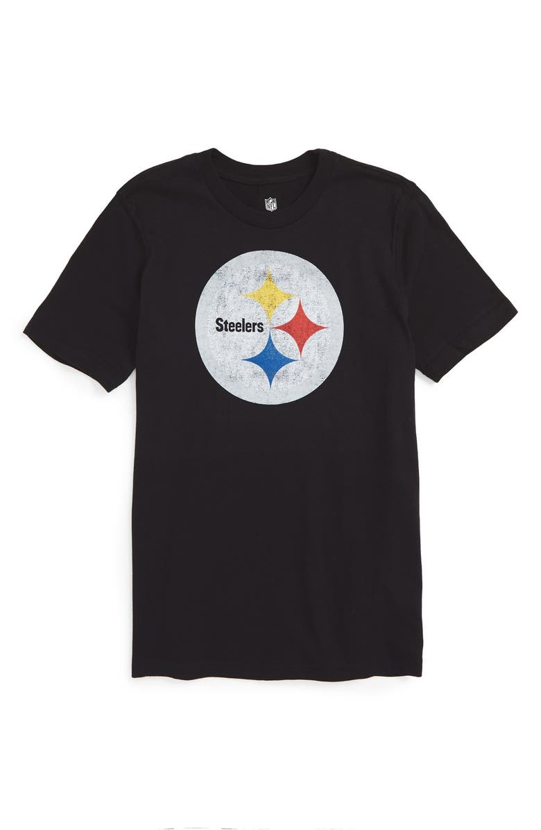 861c5400 OUTERSTUFF 'NFL - Pittsburgh Steelers' Distressed Logo Graphic T-Shirt,  Main,