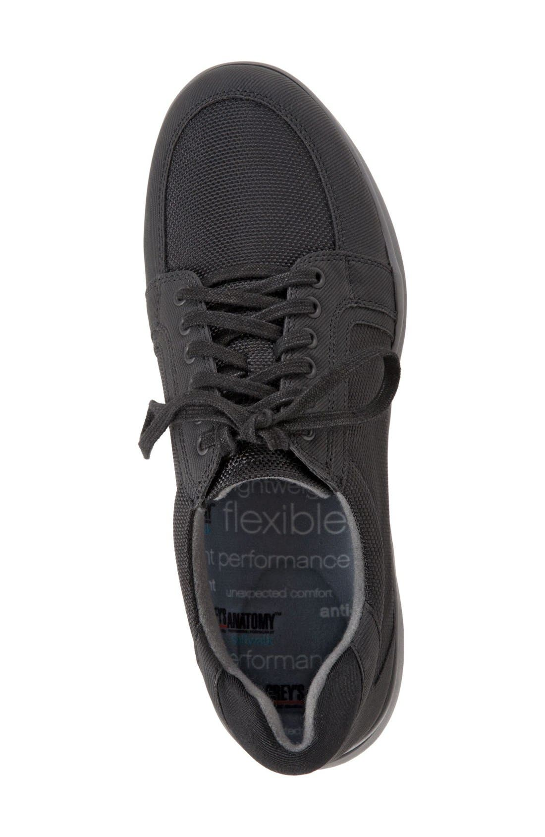 SOFTWALK<SUP>®</SUP>, 'Vital' Sneaker, Alternate thumbnail 4, color, BLACK
