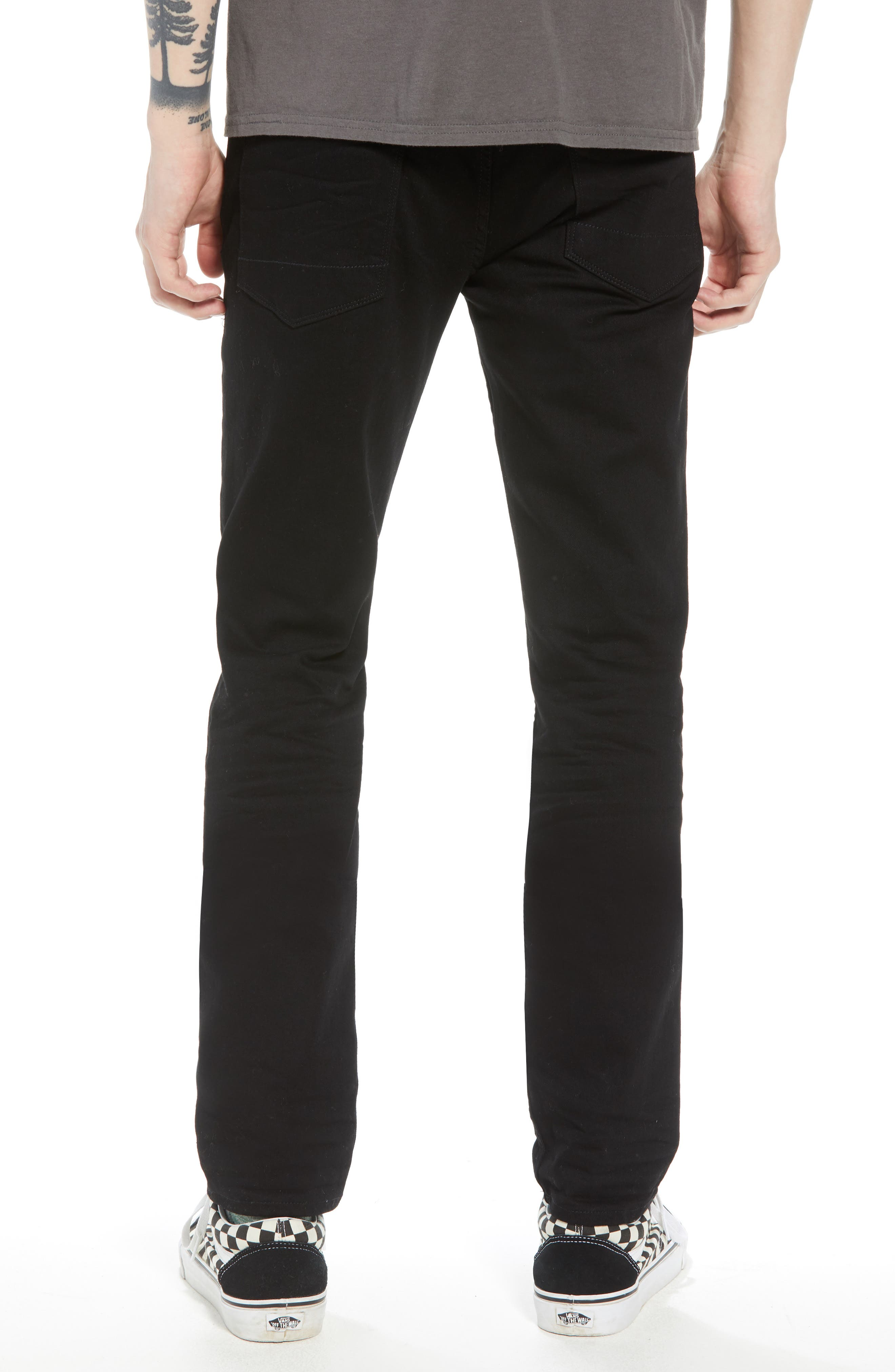HUDSON JEANS, Hudson Axl Skinny Fit Jeans, Alternate thumbnail 2, color, HASKETT