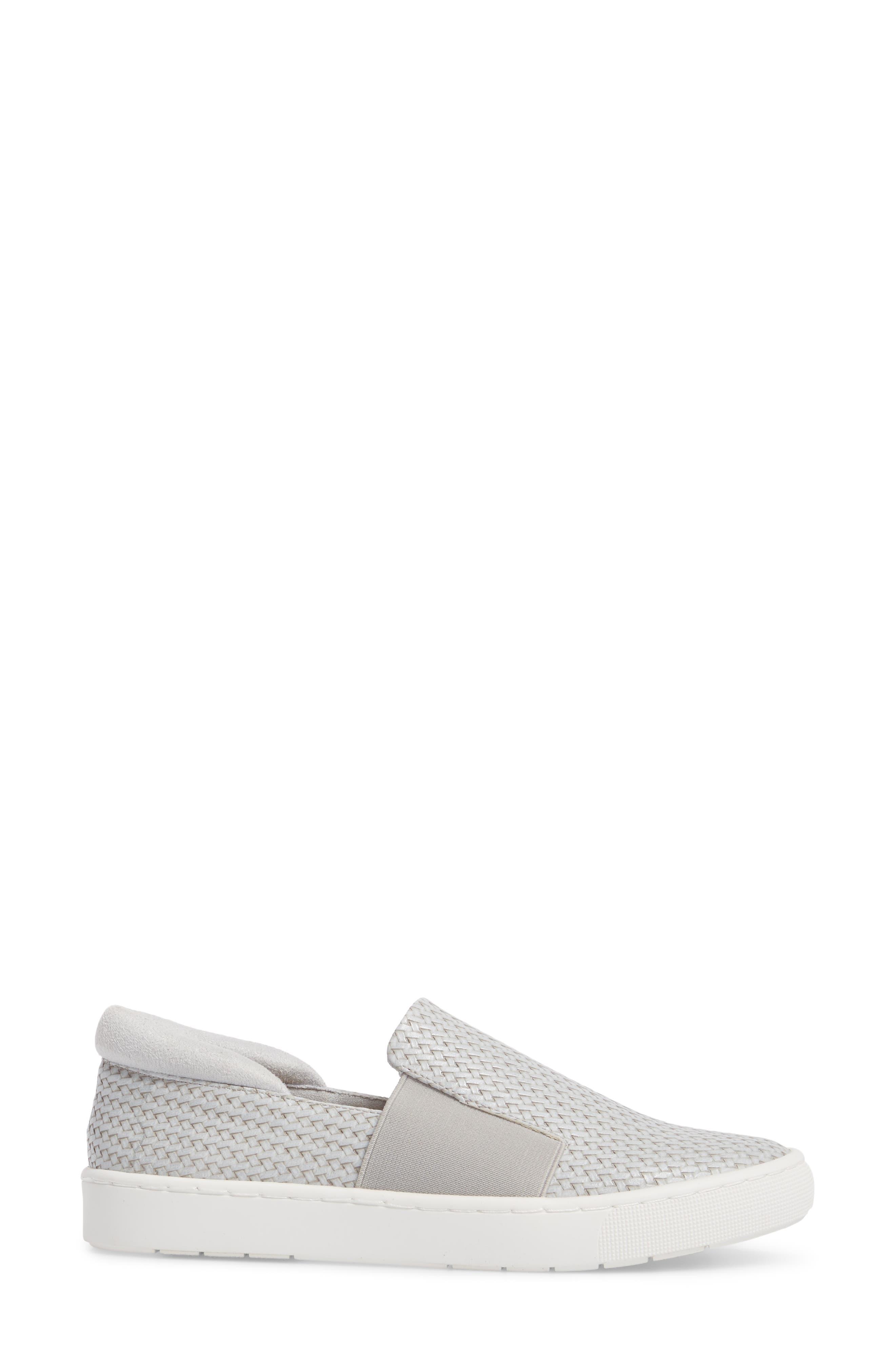BELLA VITA, Ramp II Slip-On Sneaker, Alternate thumbnail 3, color, LIGHT GREY FABRIC