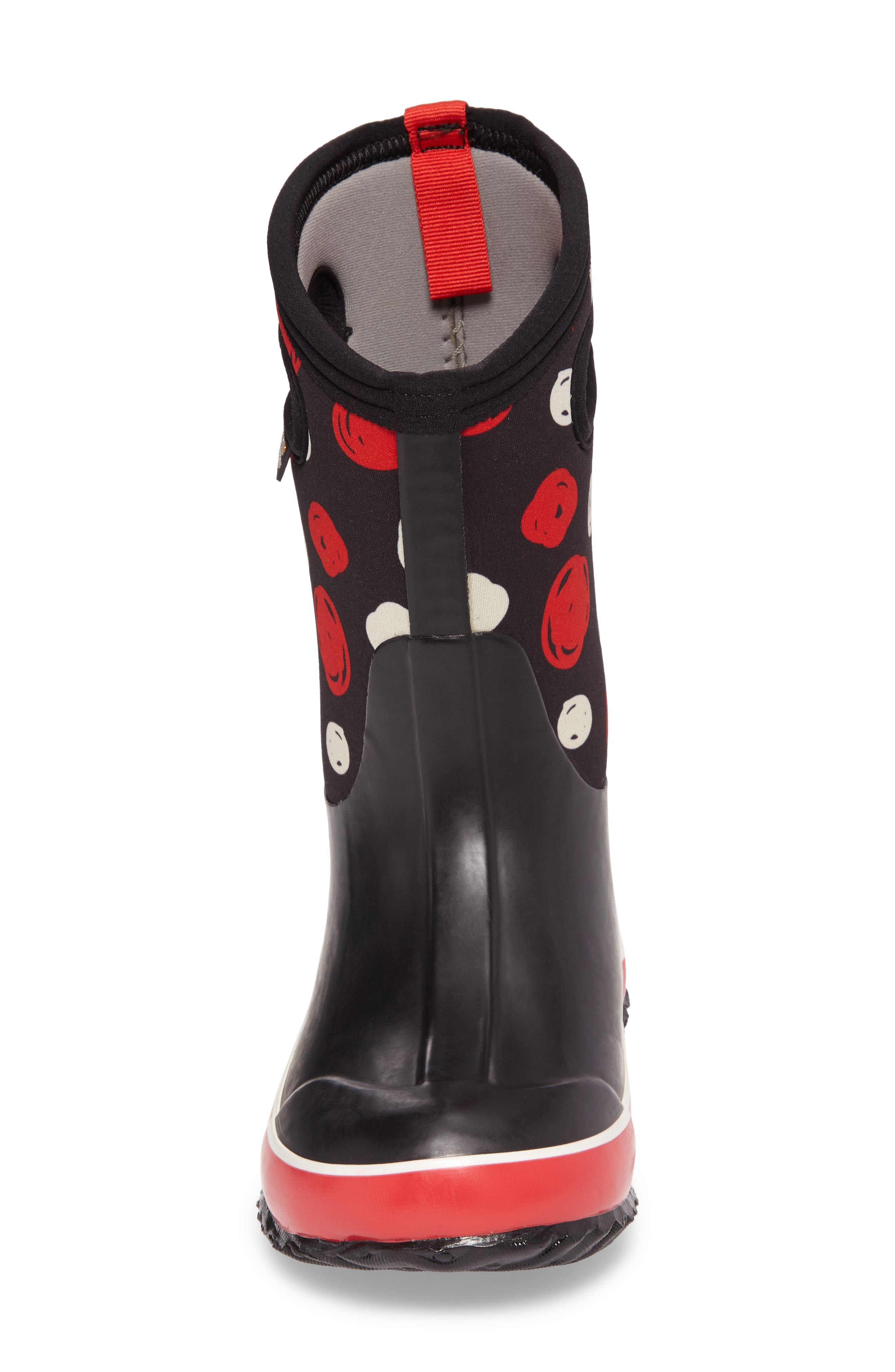 BOGS, Classic Sketched Dots Insulated Waterproof Boot, Alternate thumbnail 4, color, BLACK MULTI