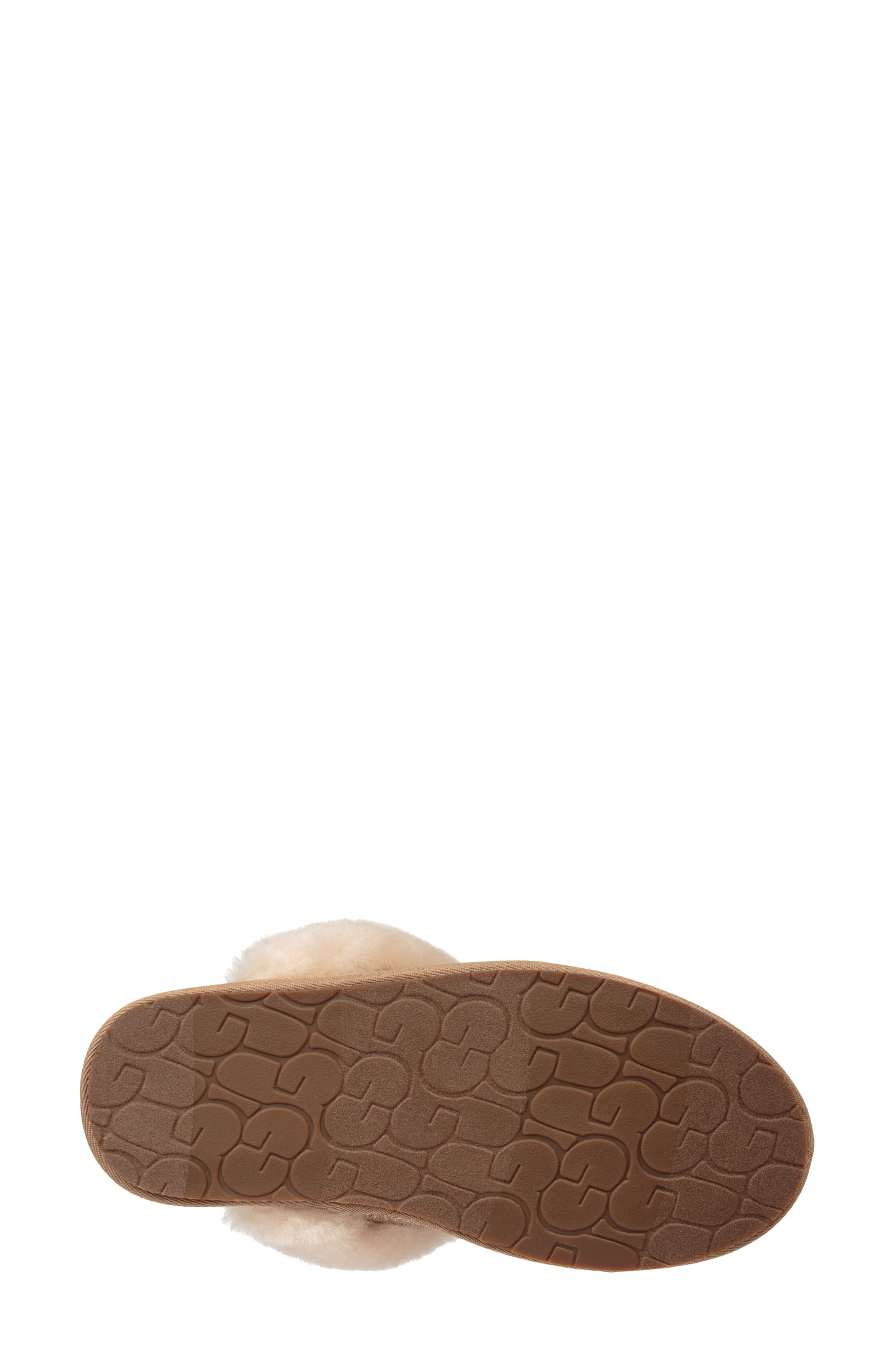 UGG<SUP>®</SUP>, Scuffette II Sparkle Genuine Shearling Slipper, Alternate thumbnail 5, color, GOLD