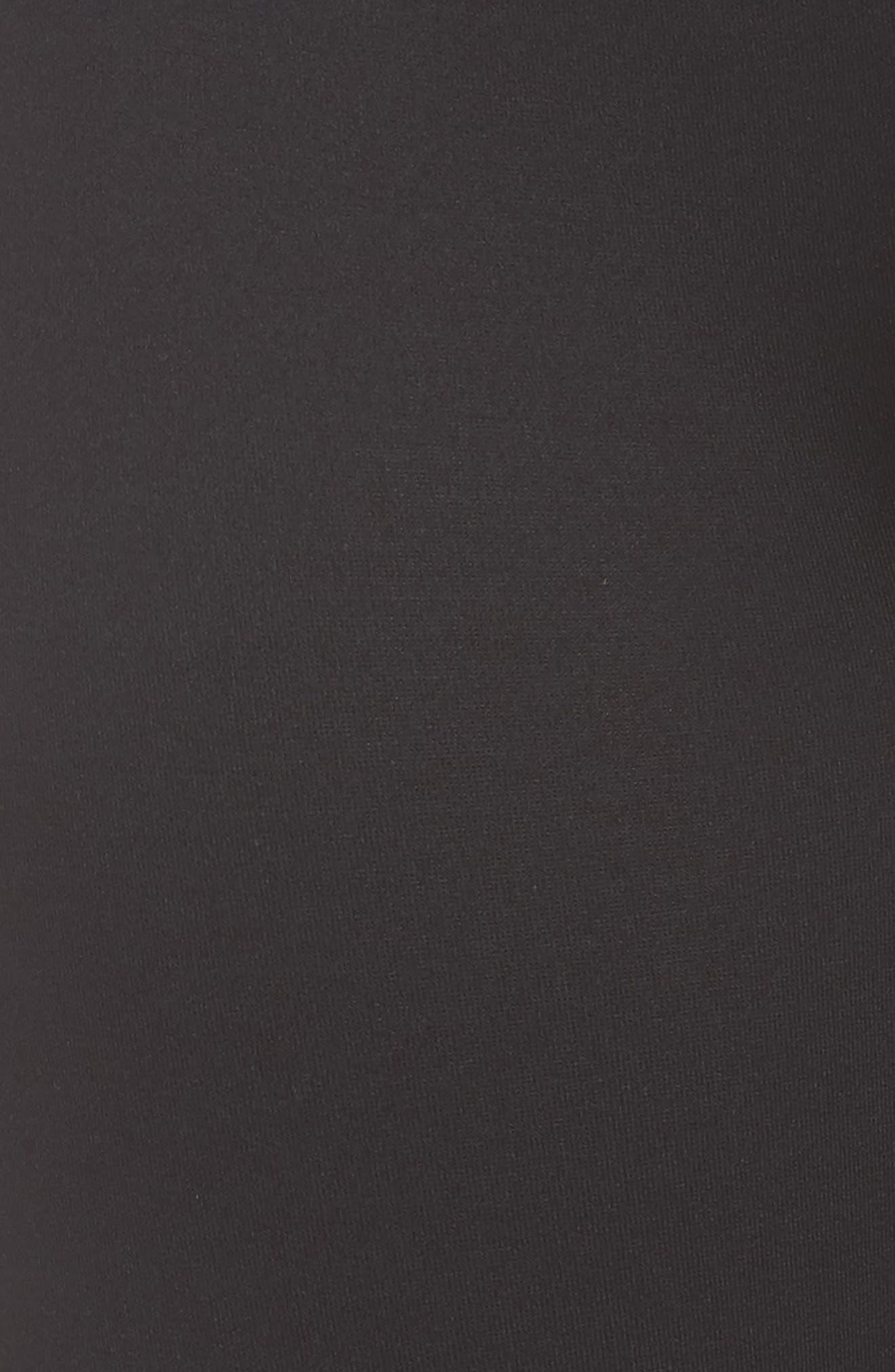 SPANX<SUP>®</SUP>, Active Knee-Length Leggings, Alternate thumbnail 6, color, BLACK
