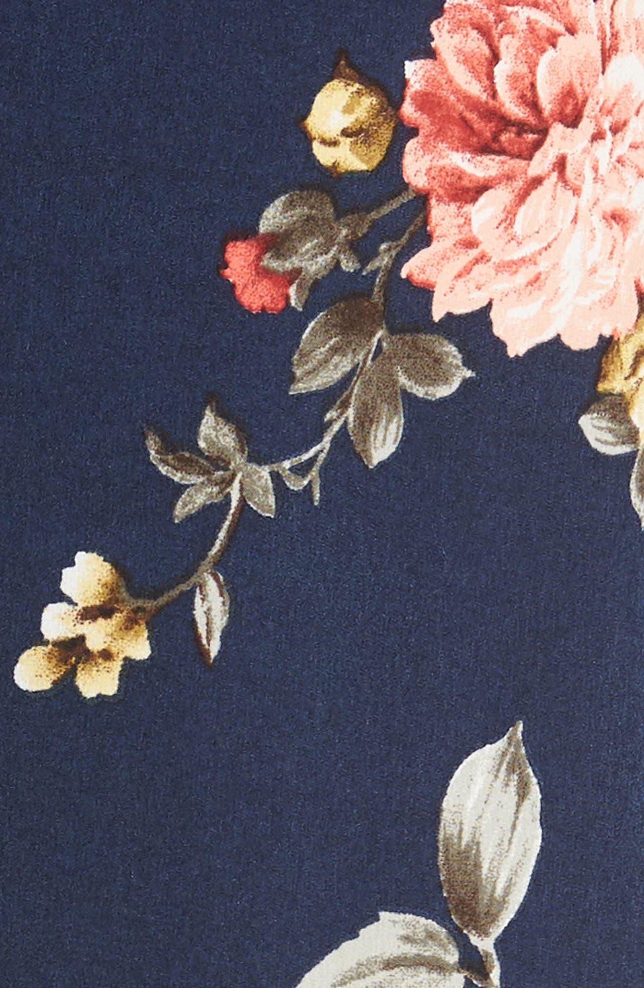 SOPRANO, Wrap Midi Dress, Alternate thumbnail 5, color, 400