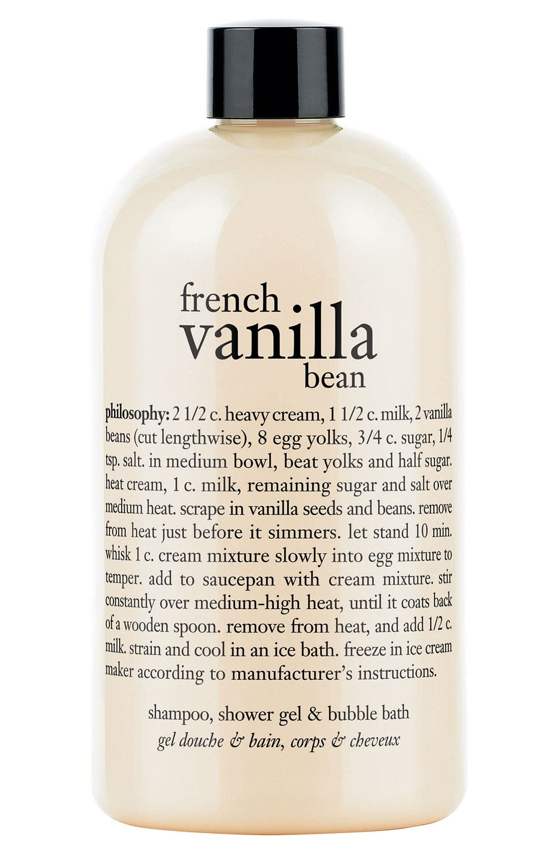 PHILOSOPHY 'french vanilla bean' shampoo, shower gel & bubble bath, Main, color, NO COLOR