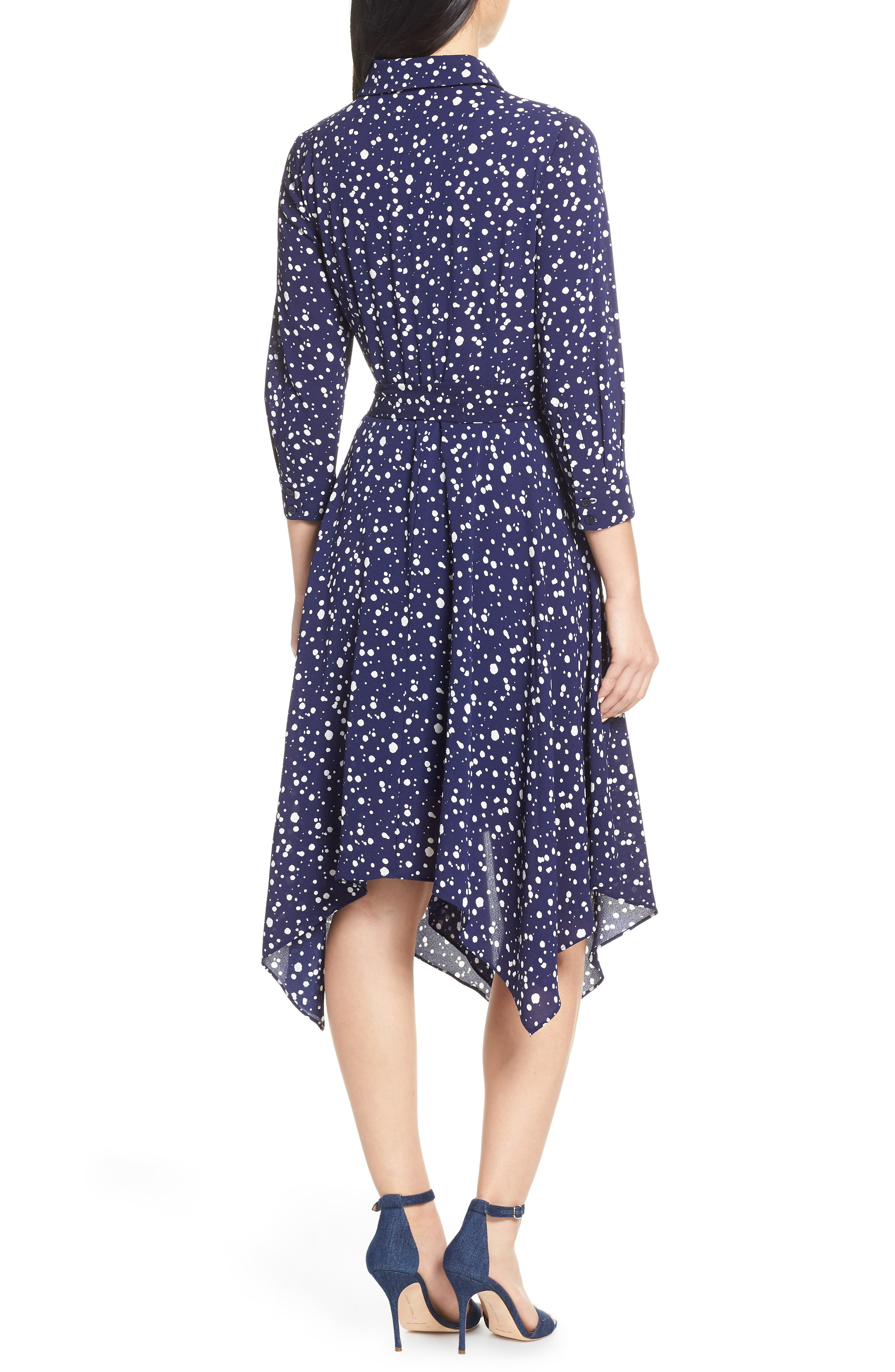 ELIZA J, Handkerchief Hem Midi Dress, Alternate thumbnail 2, color, 410