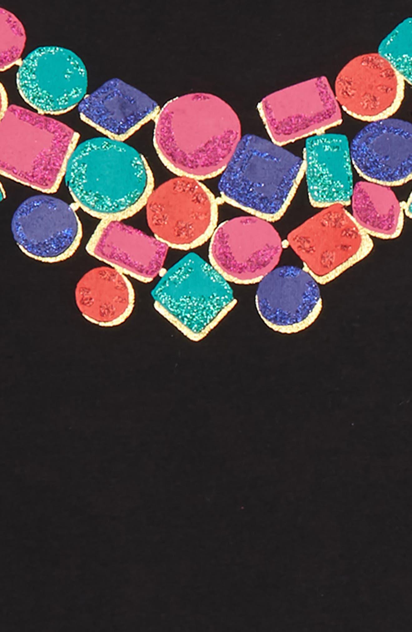 KATE SPADE NEW YORK, metallic knit skirt set, Alternate thumbnail 2, color, 001