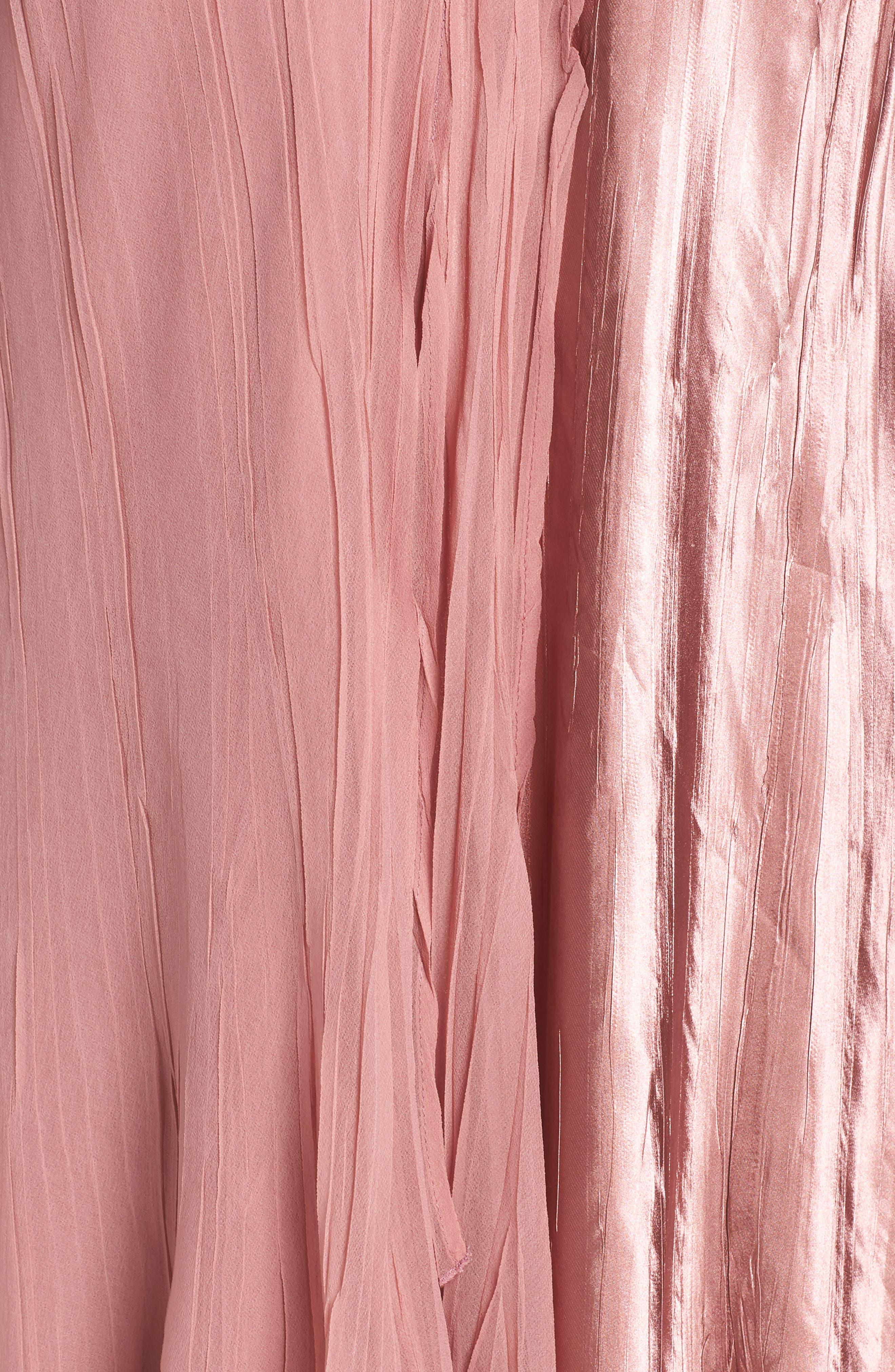 KOMAROV, Tiered A-Line Dress, Alternate thumbnail 6, color, 680