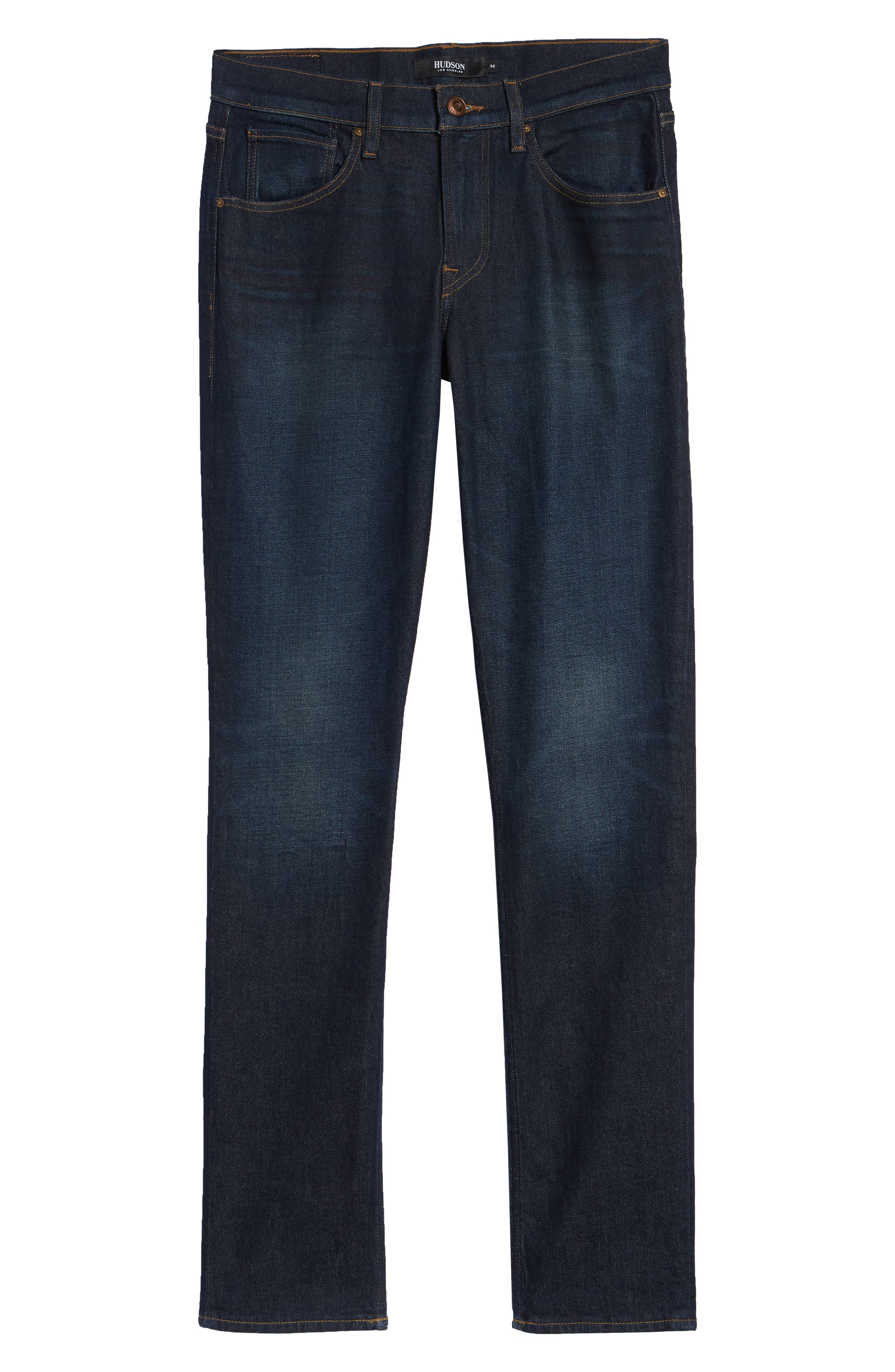 HUDSON JEANS, Blake Slim Fit Jeans, Alternate thumbnail 6, color, VERKLER