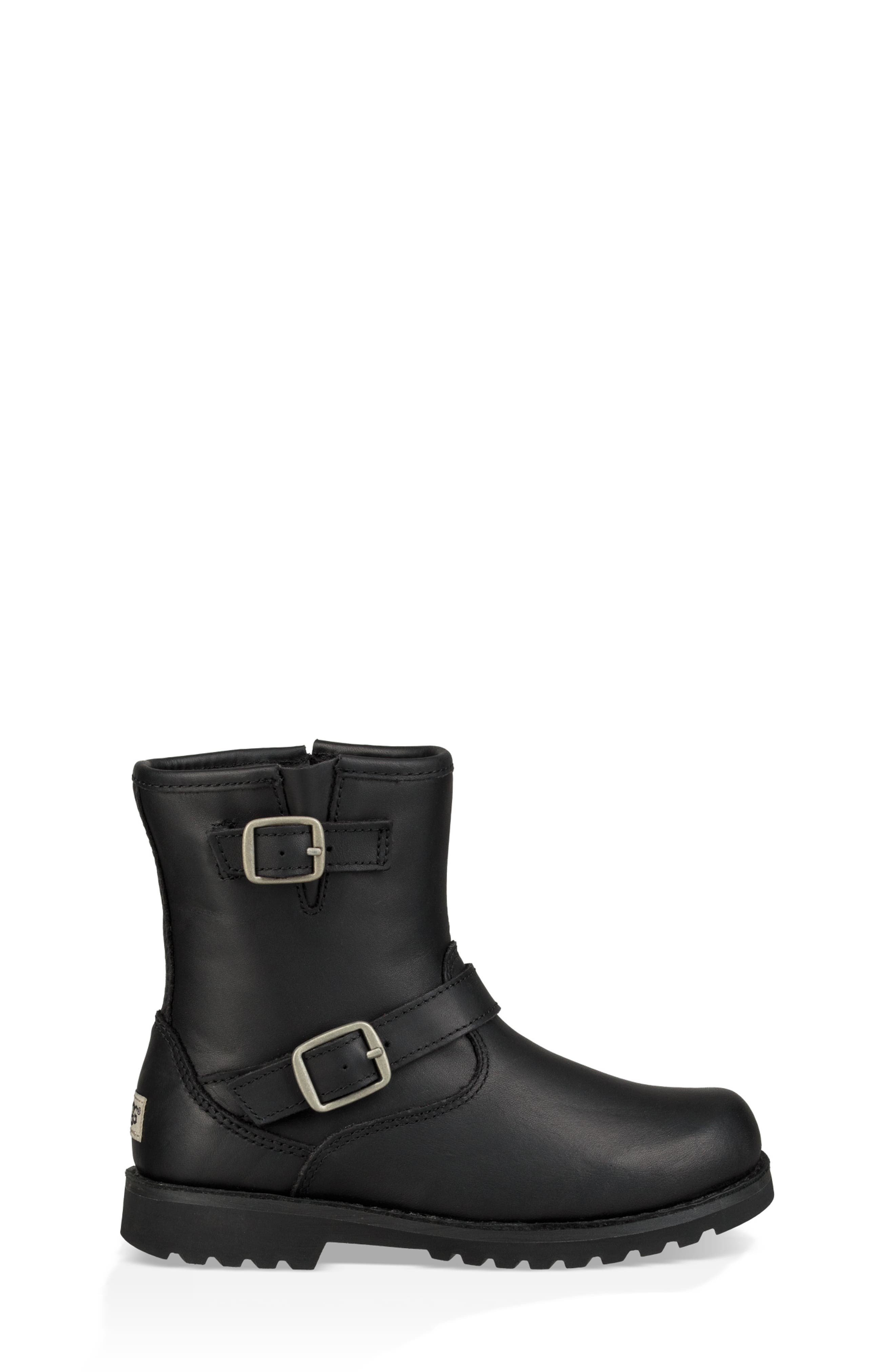 UGG<SUP>®</SUP>, Harwell Boot, Alternate thumbnail 3, color, BLACK
