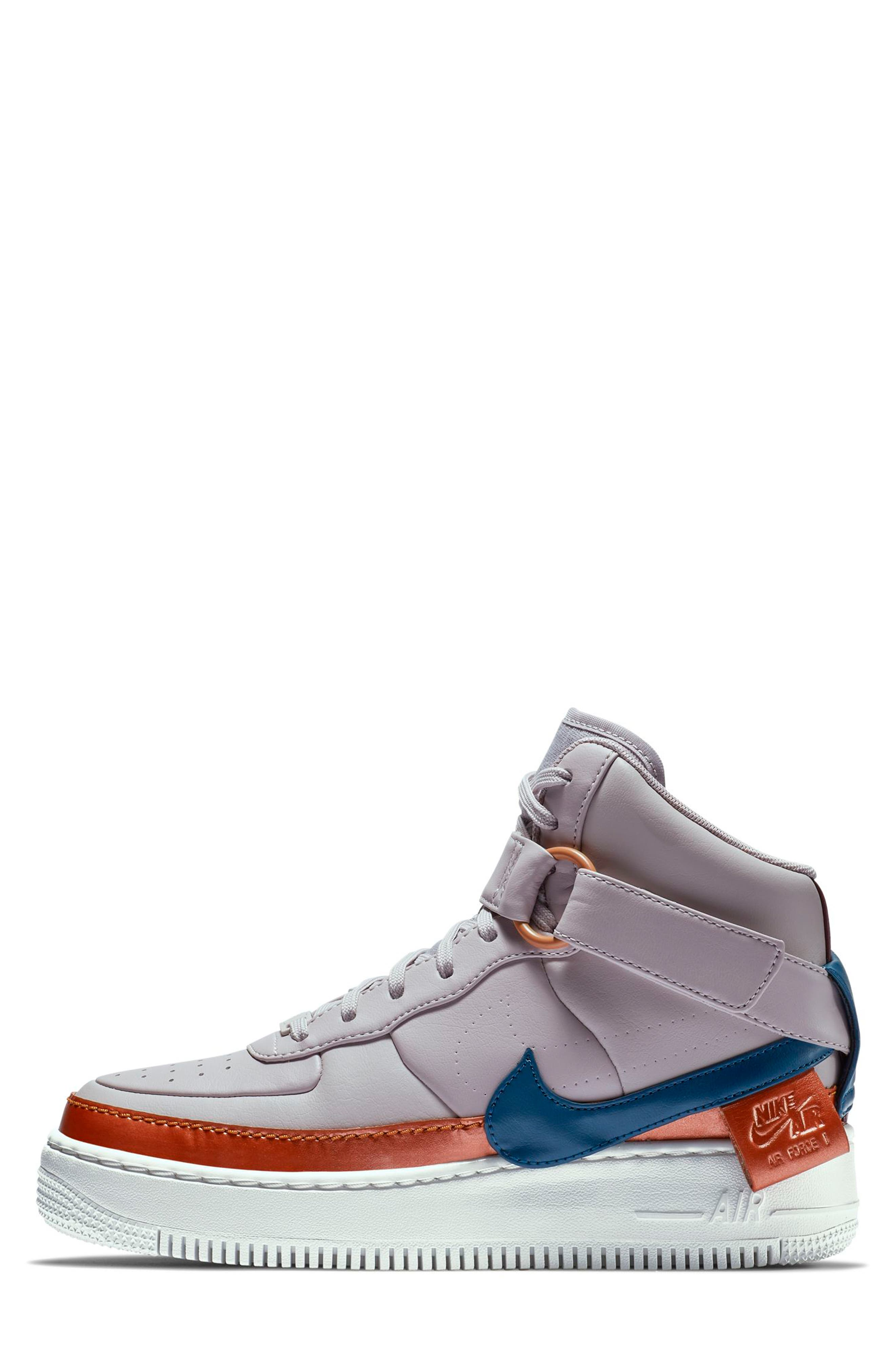 NIKE, Air Force 1 Jester High XX Sneaker, Alternate thumbnail 3, color, 500