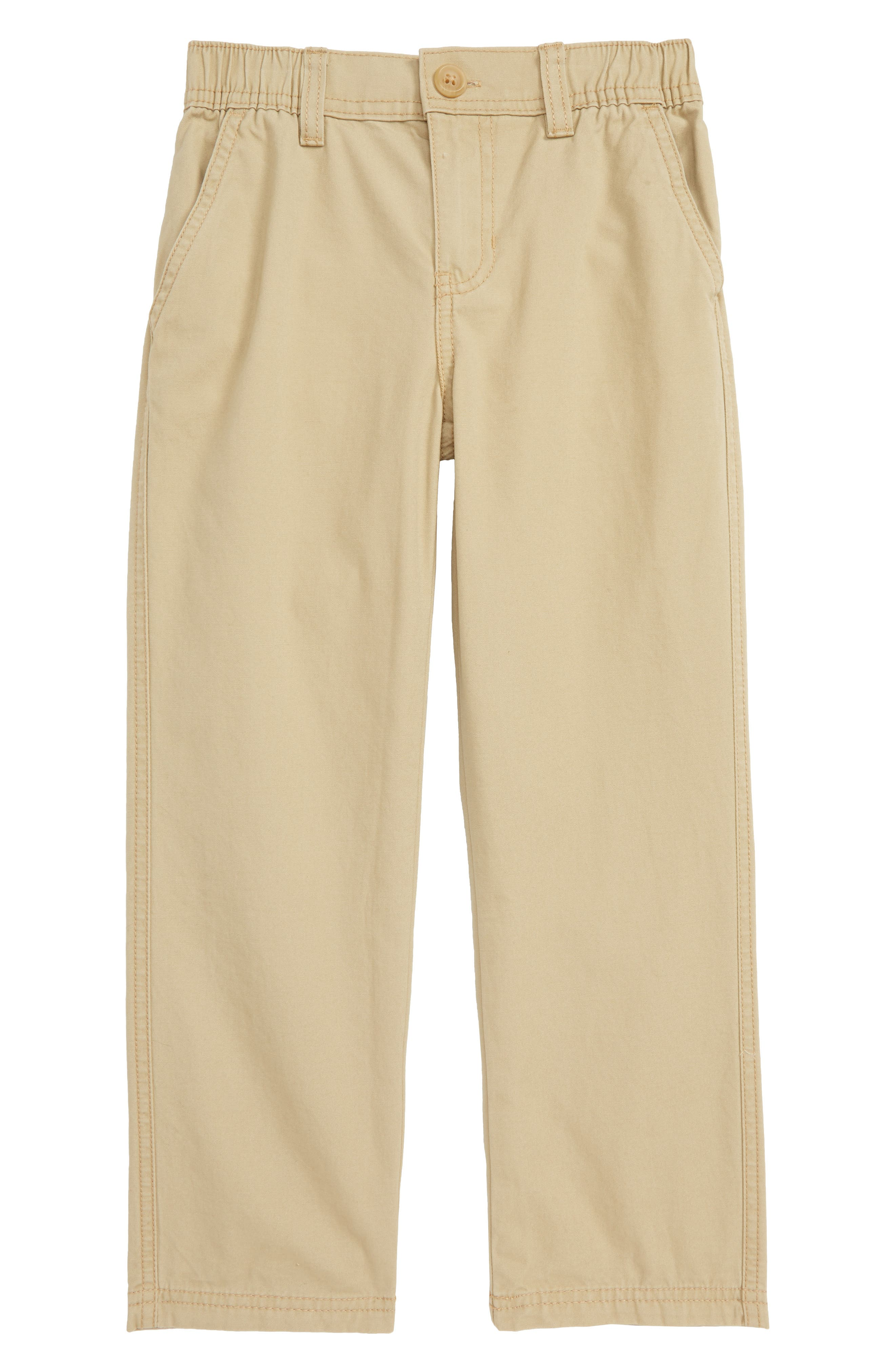 Toddler Boys Tea Collection Canvas Chino Pants Size 3T  Brown