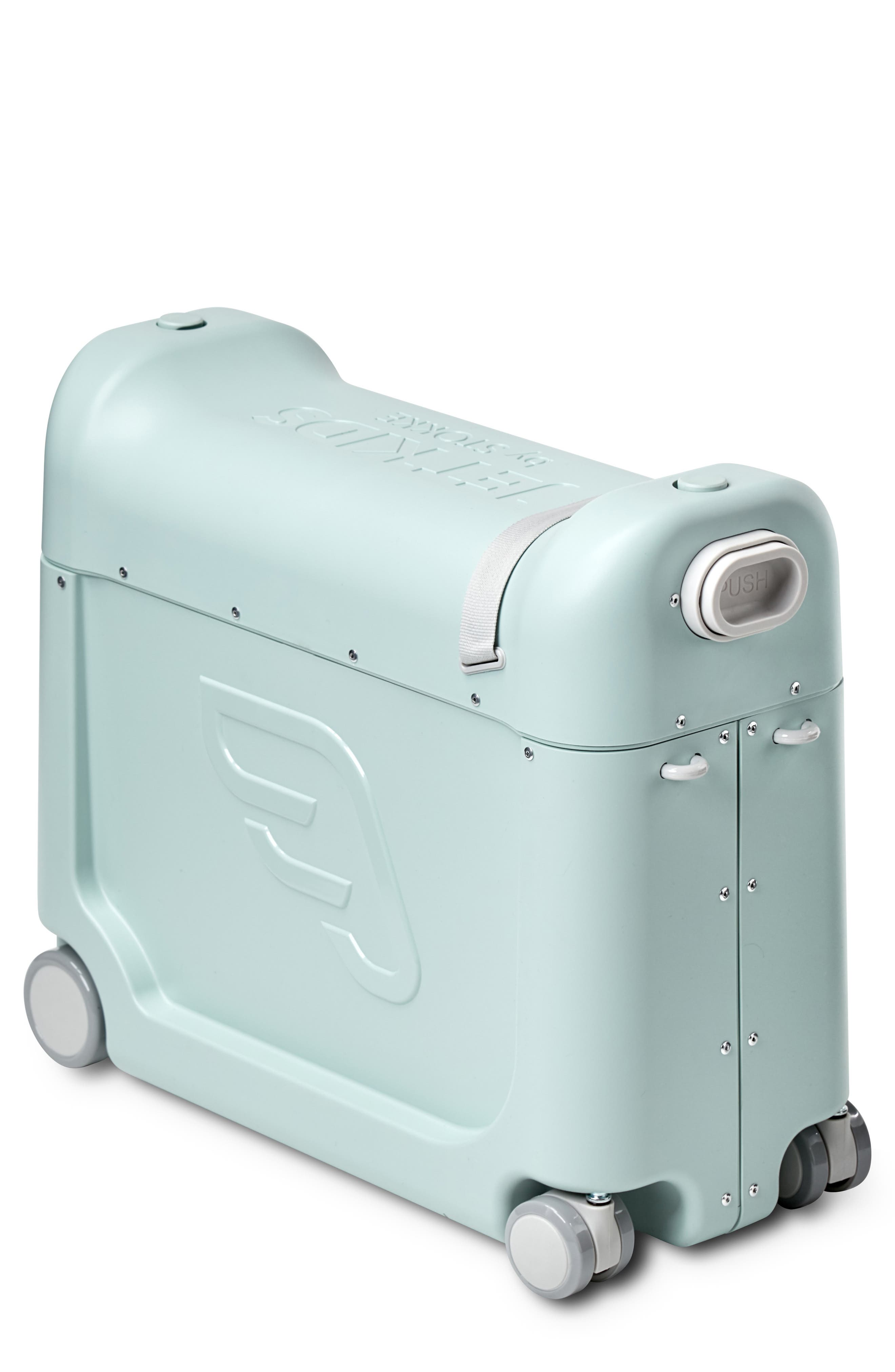 STOKKE, Jetkids by Stokke Bedbox<sup>®</sup> Ride-On Carry-On Suitcase, Main thumbnail 1, color, GREEN
