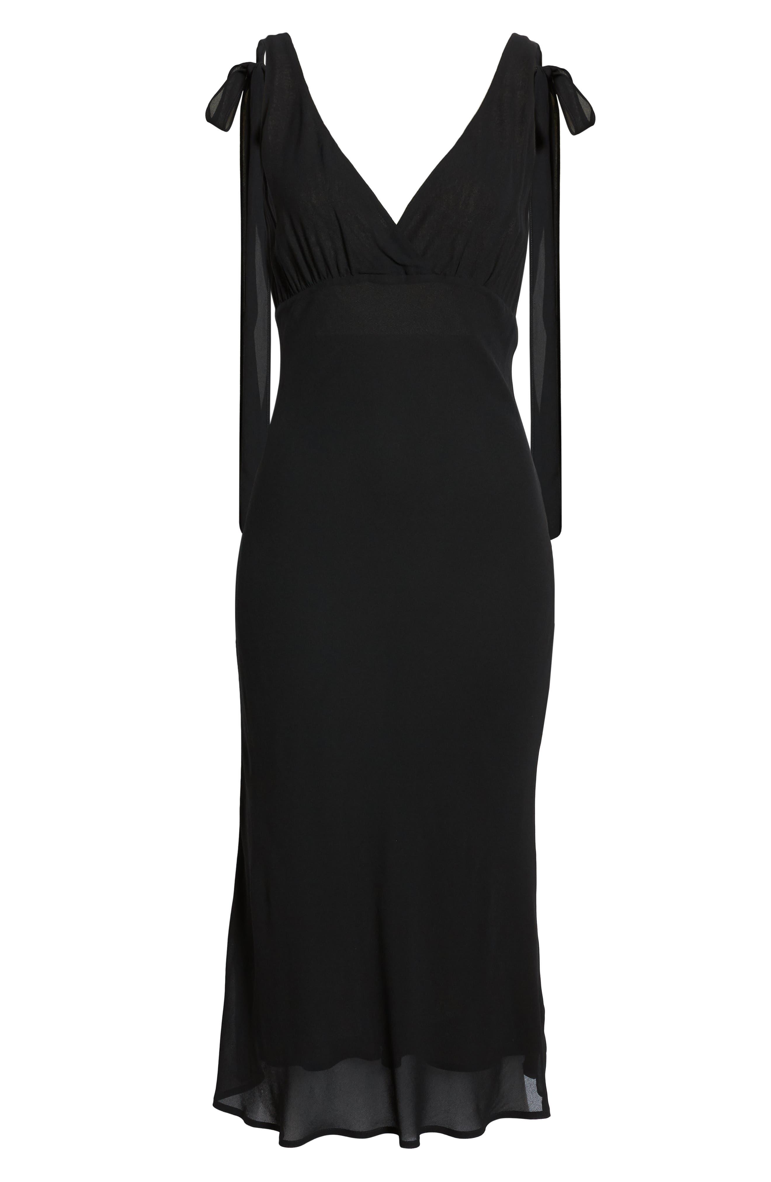 REFORMATION, Venezia Dress, Alternate thumbnail 7, color, BLACK