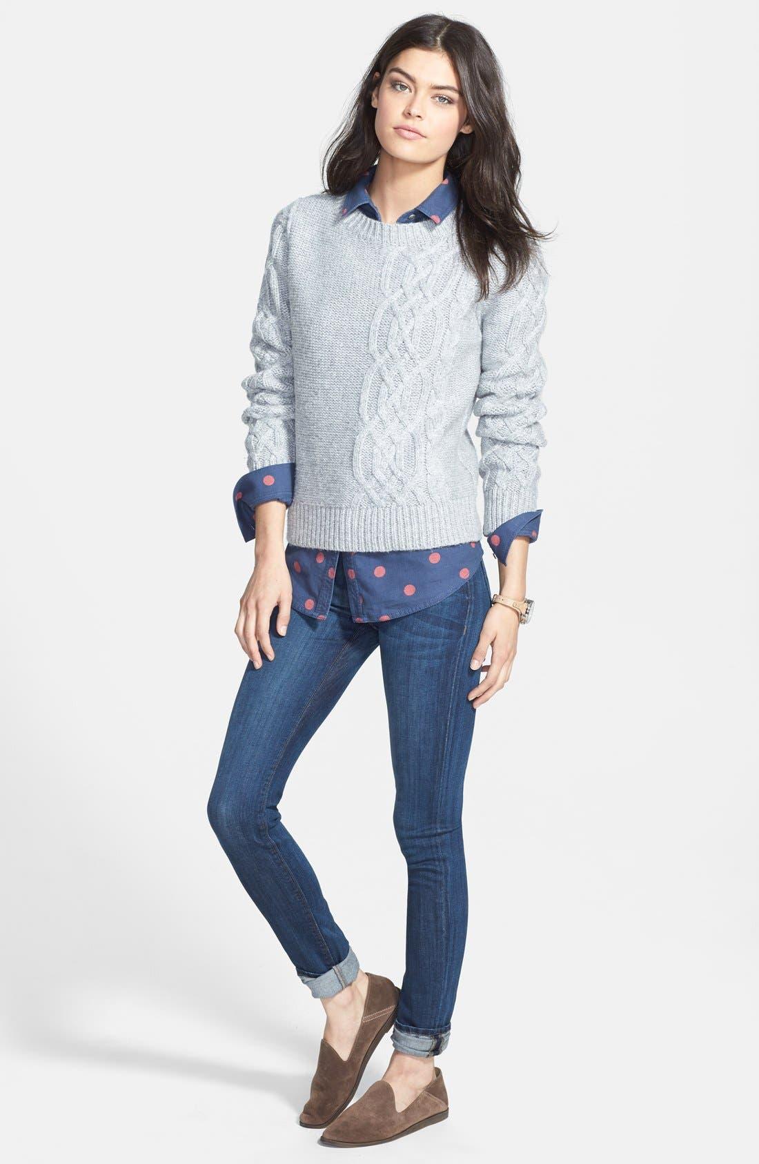 HUDSON JEANS, 'Collette' Skinny Jeans, Alternate thumbnail 6, color, 400