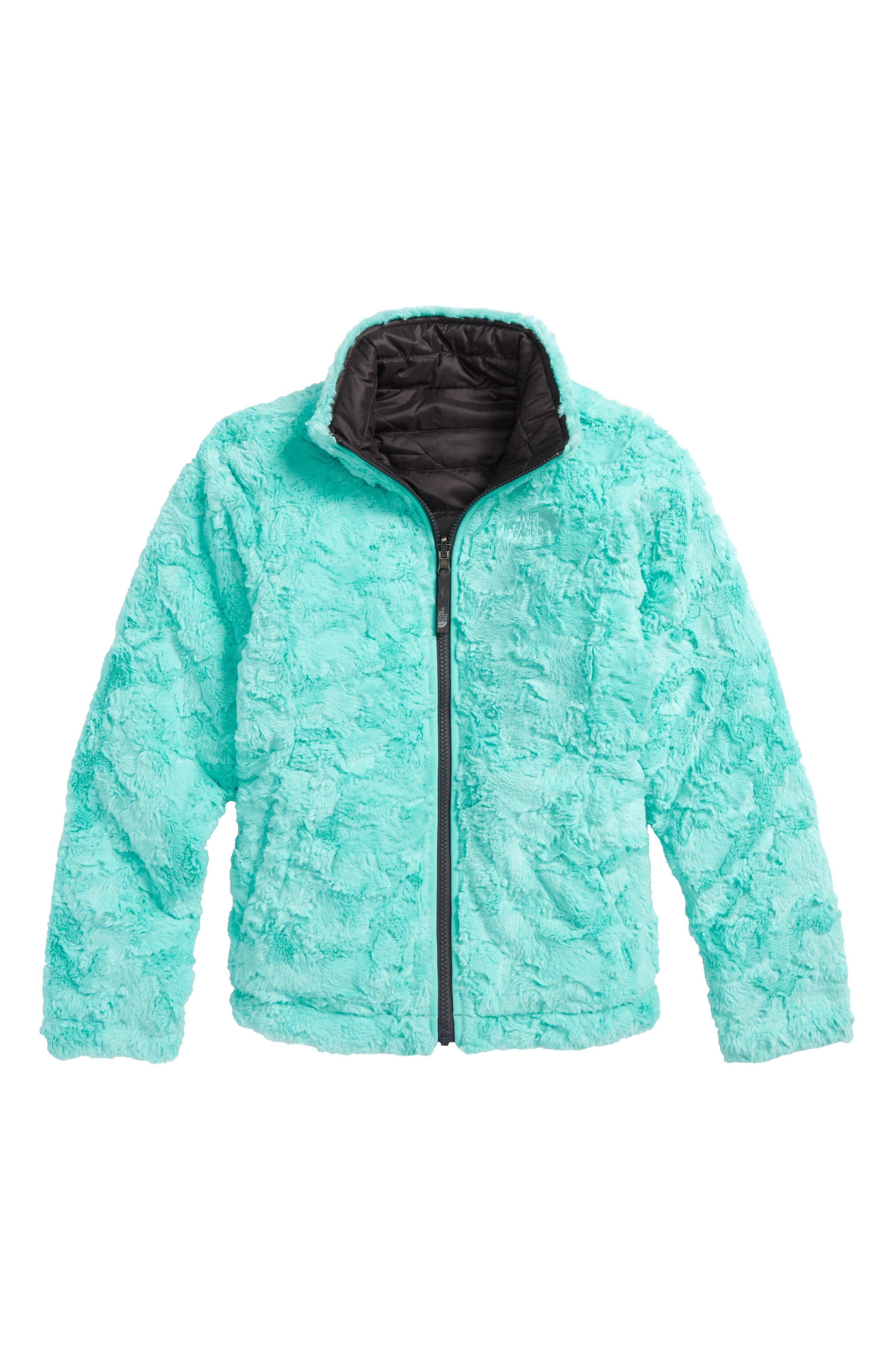 THE NORTH FACE, Mossbud Swirl Reversible Water Repellent Jacket, Alternate thumbnail 2, color, 021