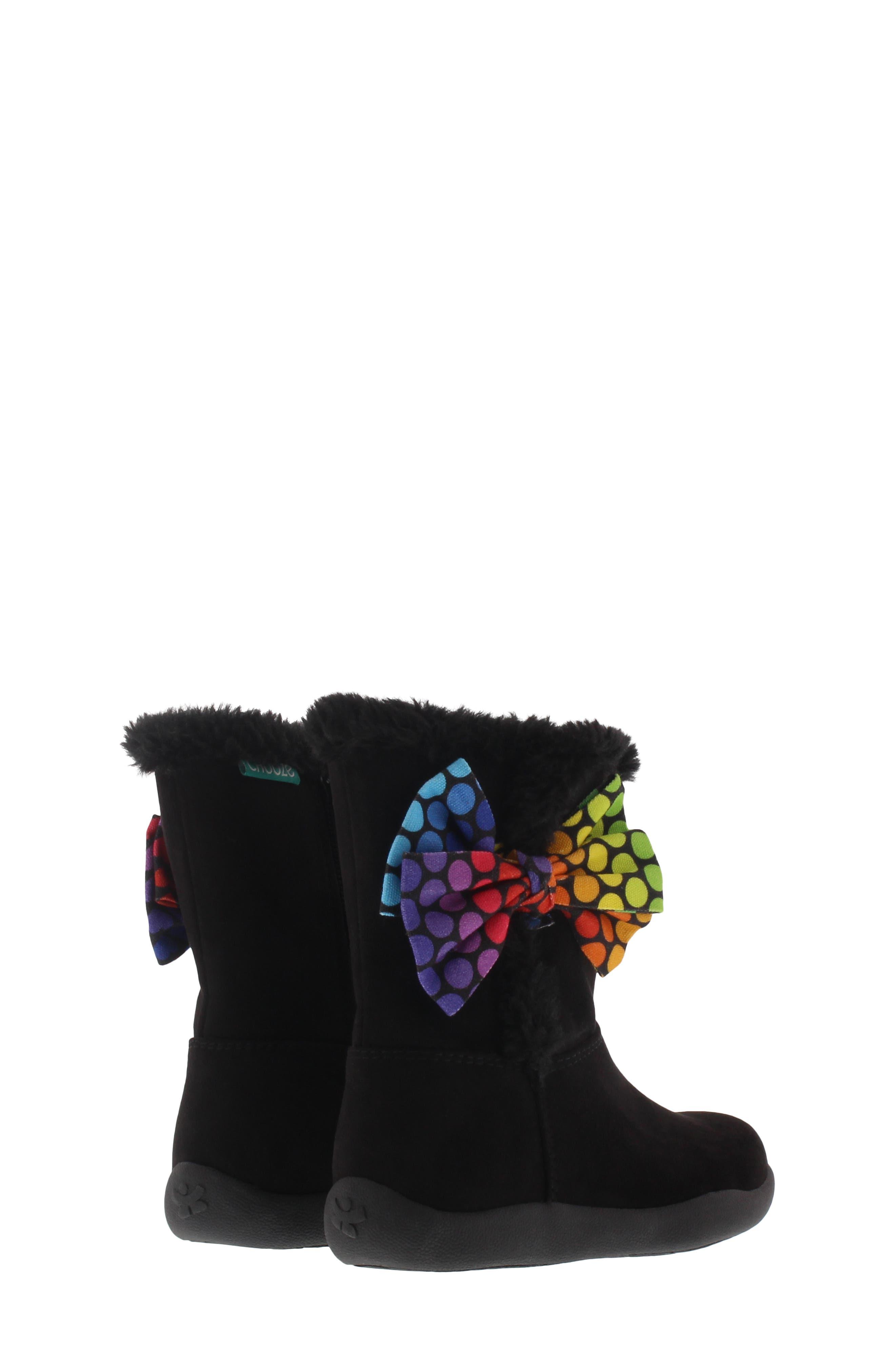 CHOOZE, Wish Faux Fur Lined Boot, Alternate thumbnail 2, color, BLACK