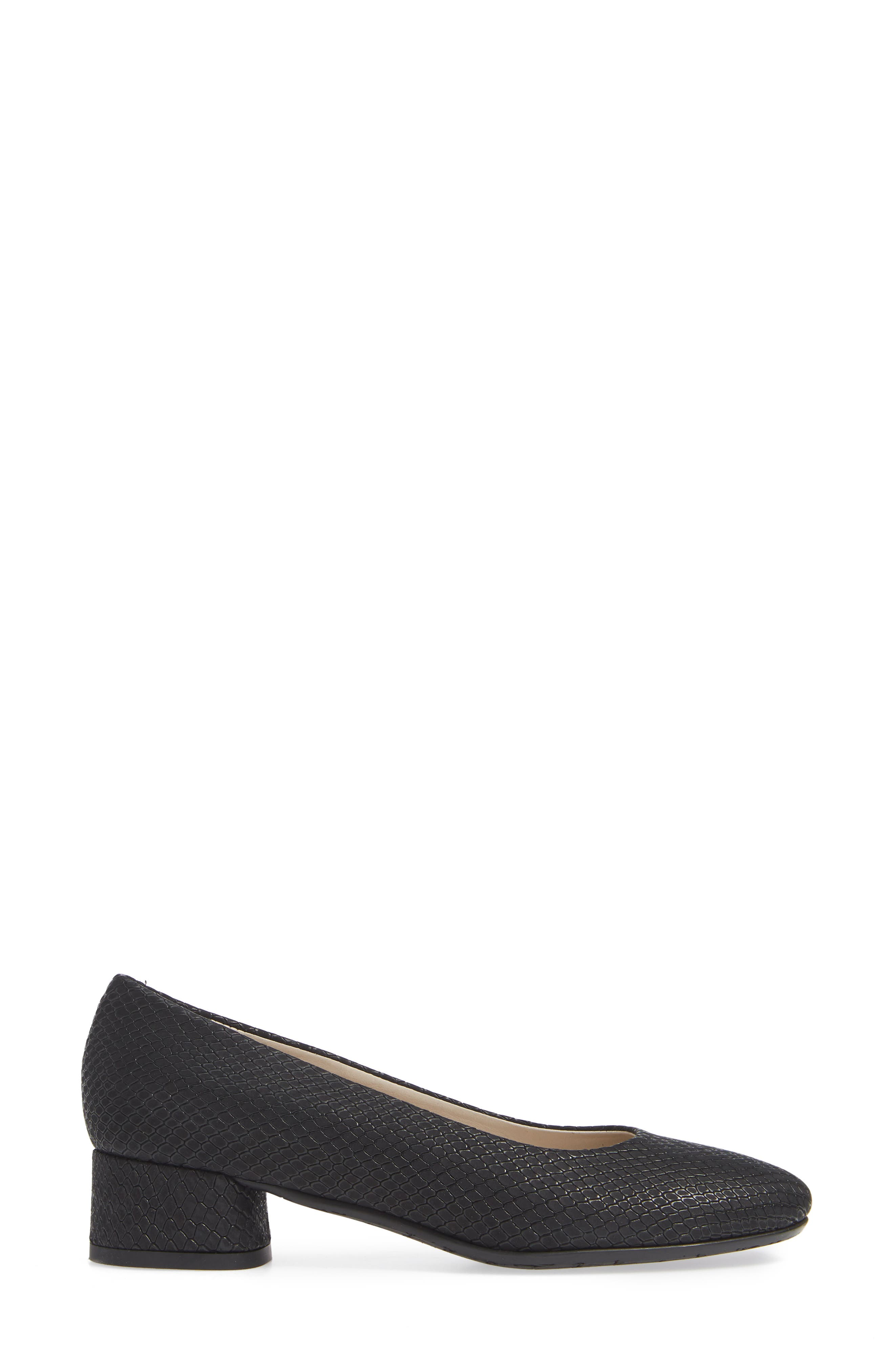 AMALFI BY RANGONI, Record Pump, Alternate thumbnail 3, color, BLACK OXIDE SUEDE