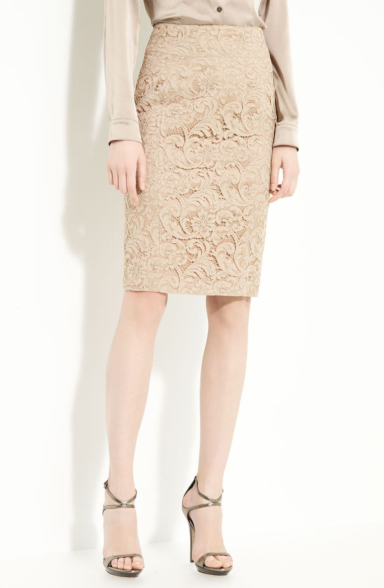 09d500d8df BURBERRY LONDON Lace Pencil Skirt, Main, color, 270