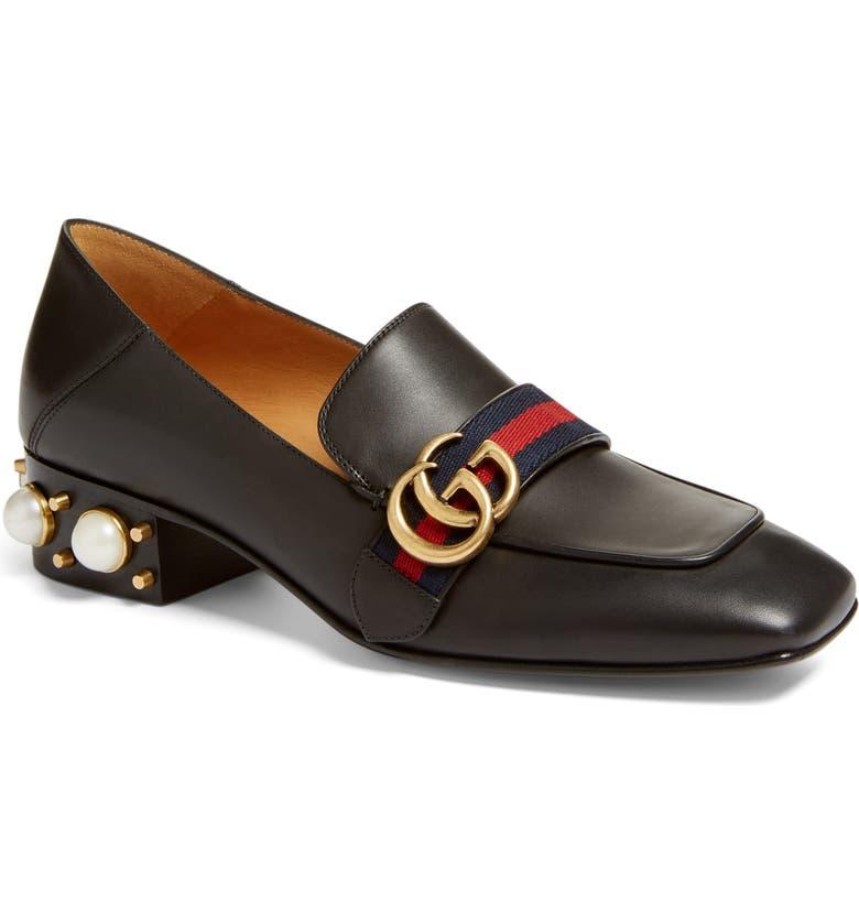 e86ec42657a Gucci Embellished Heel Loafer (Women)