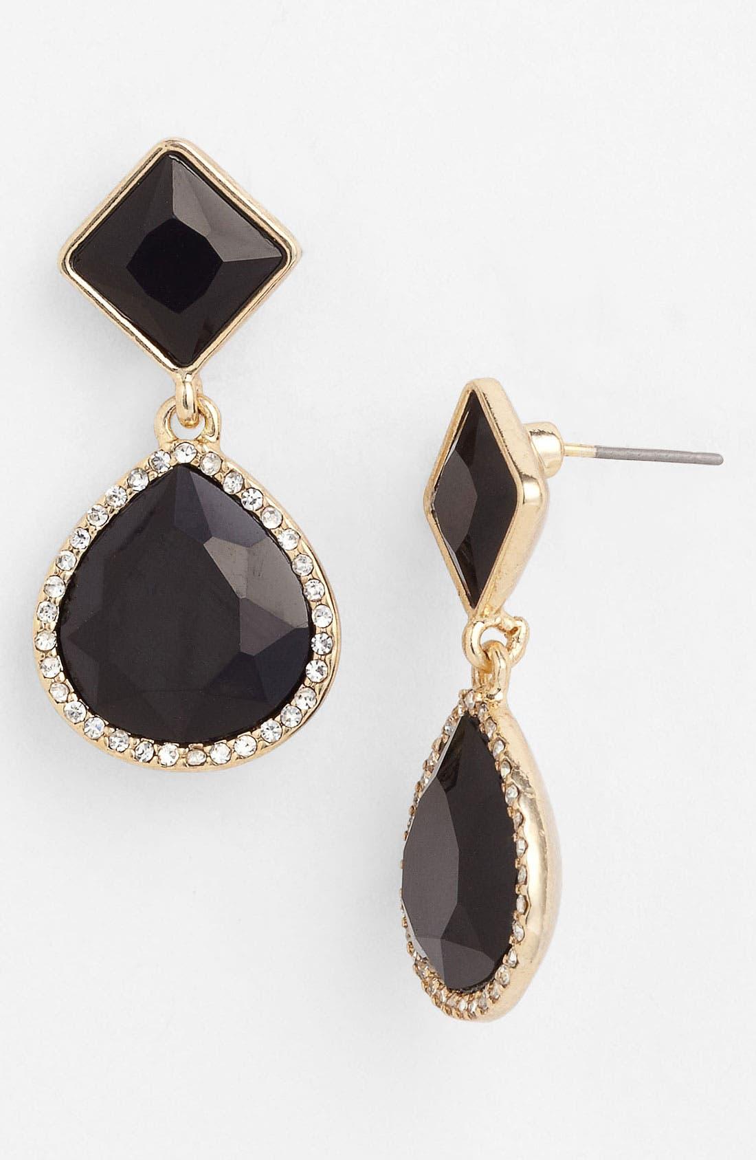 ANNE KLEIN, Drop Earrings, Main thumbnail 1, color, 001