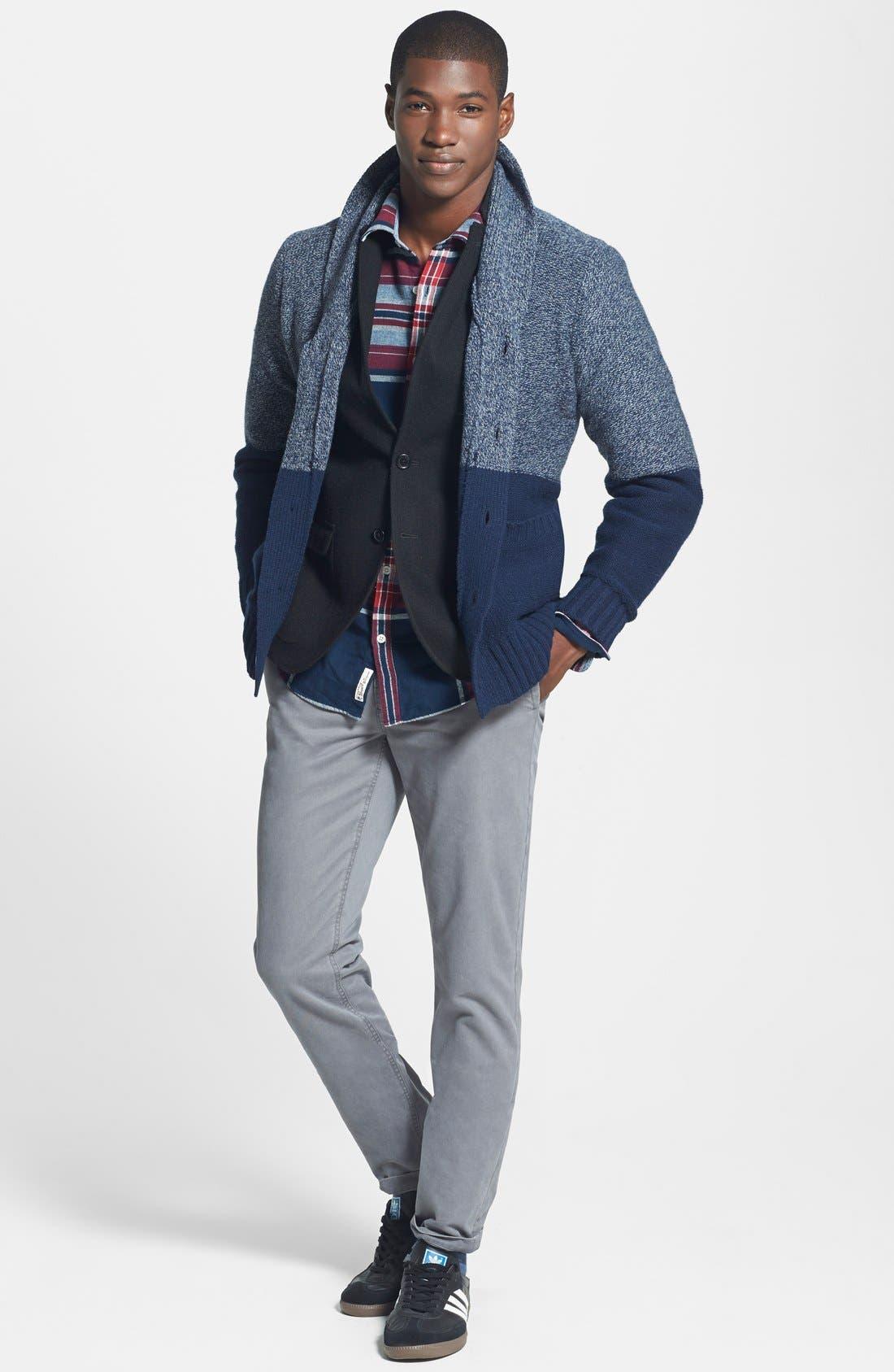 DOCKERS<SUP>®</SUP>, Dockers Trim Fit Wool Blend Blazer, Alternate thumbnail 3, color, 001