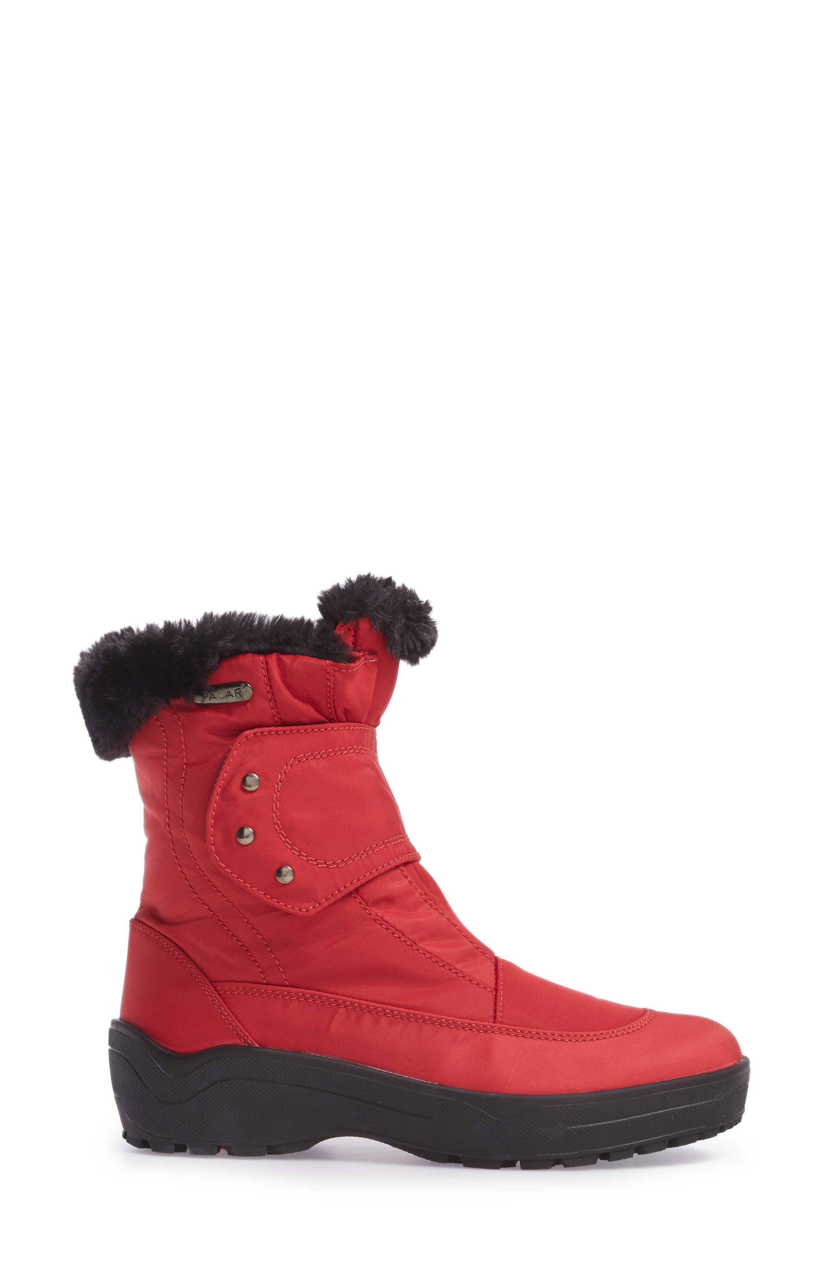 PAJAR, Shoes Moscou Snow Boot, Alternate thumbnail 3, color, RED FABRIC